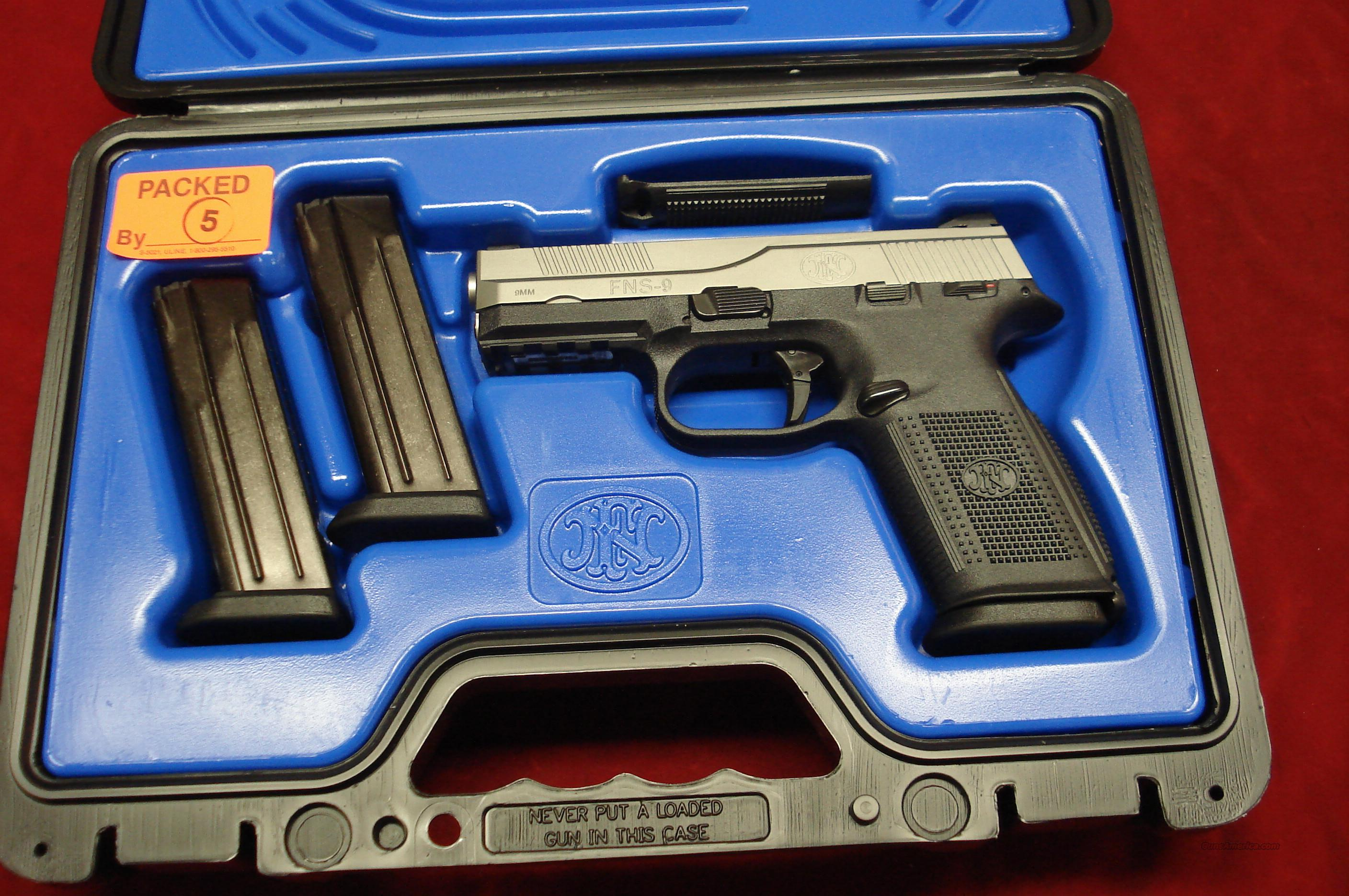 FN FNS-9 9MM STAINLESS NEW  Guns > Pistols > FNH - Fabrique Nationale (FN) Pistols > FNP