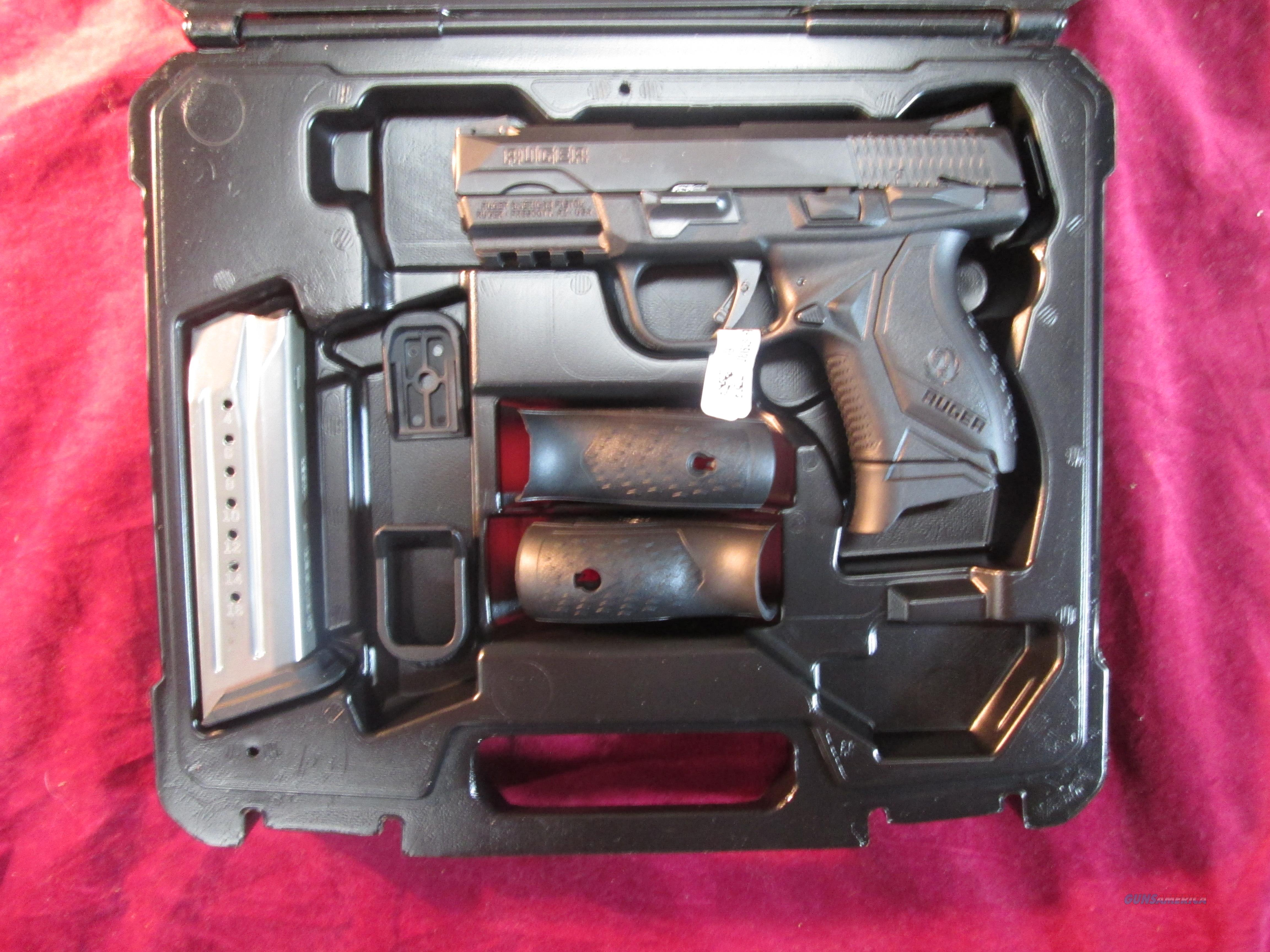 RUGER AMERICAN COMPACT PISTOL 9MM BLACK NITRIDE W/ MANUAL SAFETY NEW (08639)  Guns > Pistols > Ruger Semi-Auto Pistols > American Pistol