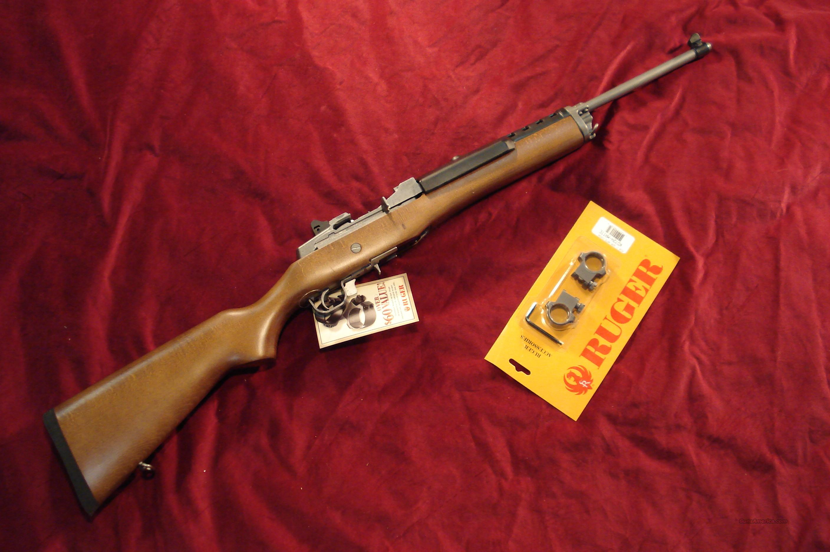 RUGER MINI 14 STAINLESS RANCH 5 ROUND NEW   Guns > Rifles > Ruger Rifles > Mini-14 Type