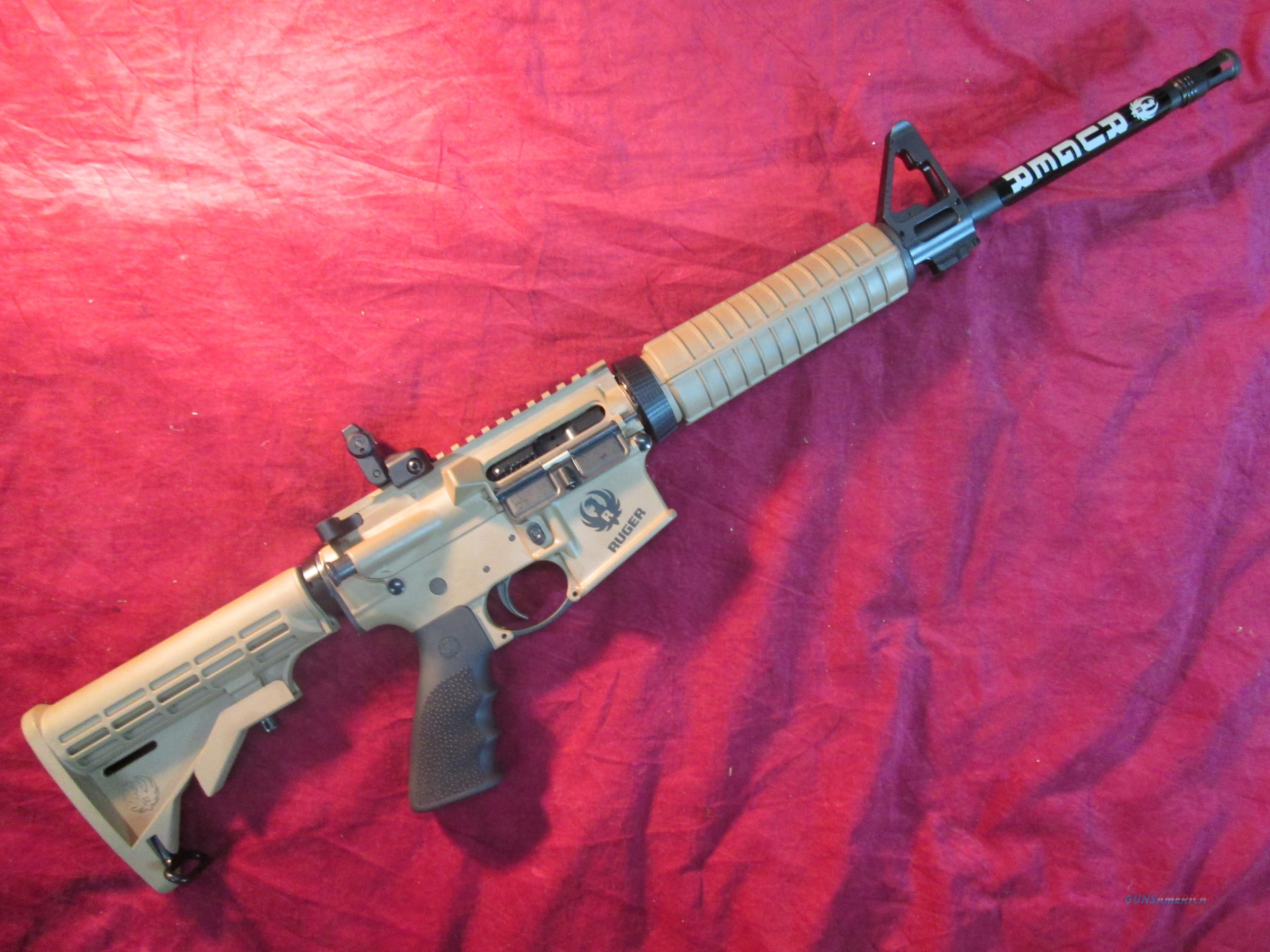 RUGER AR-556 5.56/223 cal AR15 BARRETT BROWN  CERAKOTE NEW   (08503)   Guns > Rifles > Ruger Rifles > SR Series