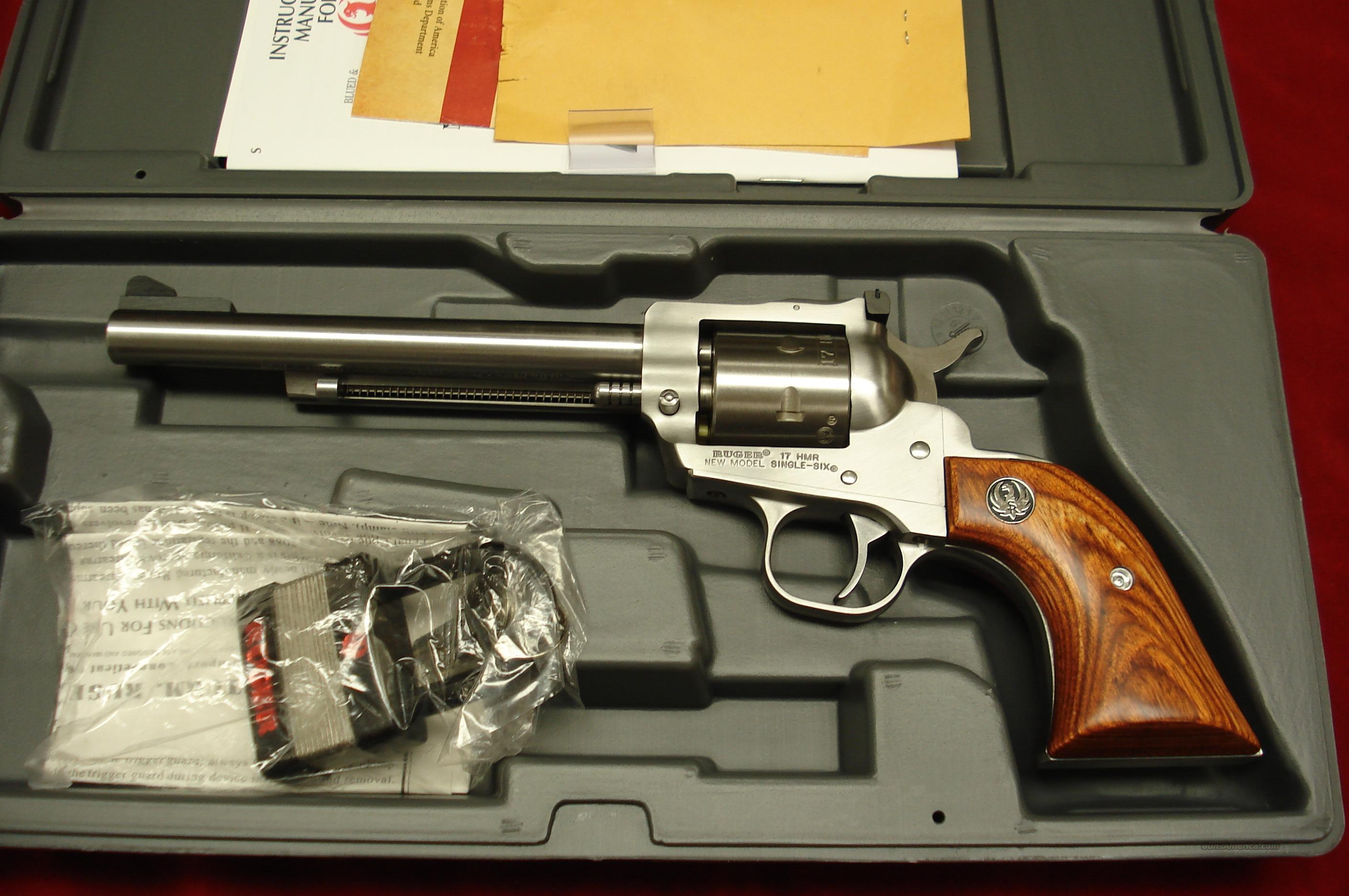 "RUGER .17HMR SINGLE-SIX  STAINLESS 6.5"" NEW  (KNR-6-17)  Guns > Pistols > Ruger Single Action Revolvers > Single Six Type"