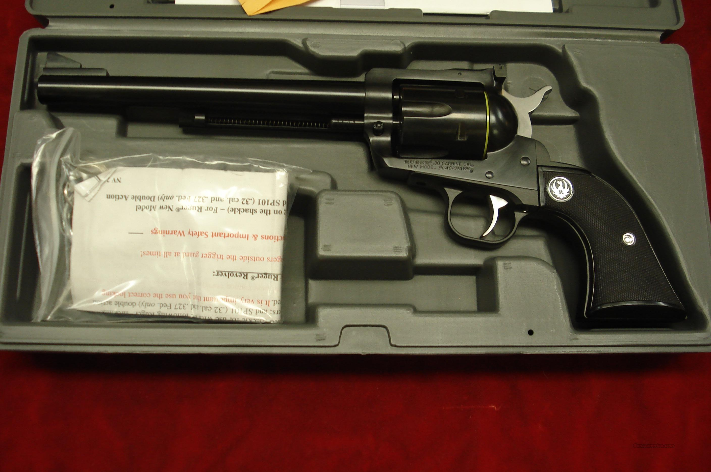 "RUGER NEW MODEL BLACKHAWK .30 CARBINE 7.5"" BLUE NEW (BN-31)  Guns > Pistols > Ruger Single Action Revolvers > Blackhawk Type"