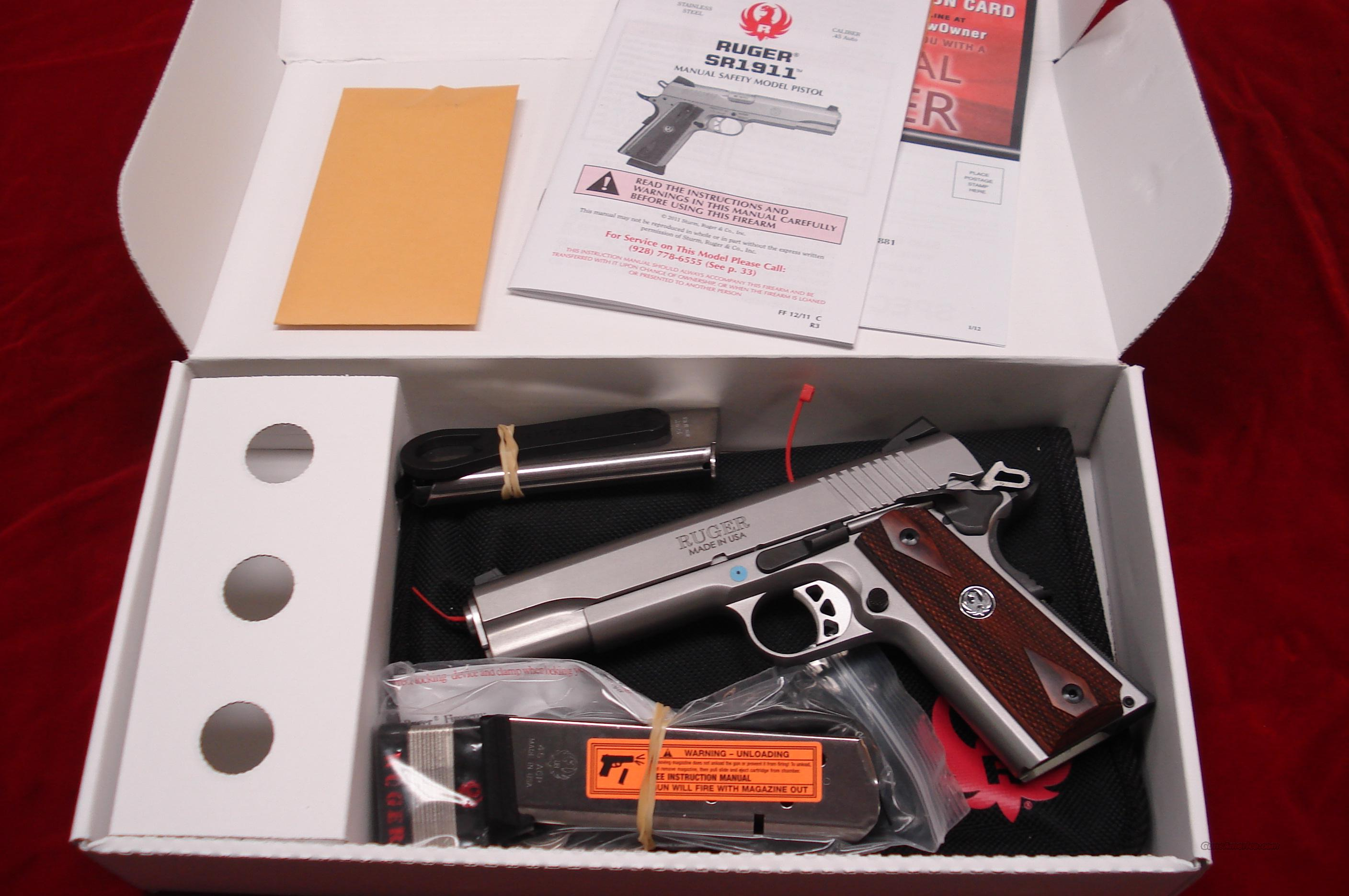 RUGER SR1911 STAINLESS 45ACP NEW   (06700)  Guns > Pistols > Ruger Semi-Auto Pistols > 1911
