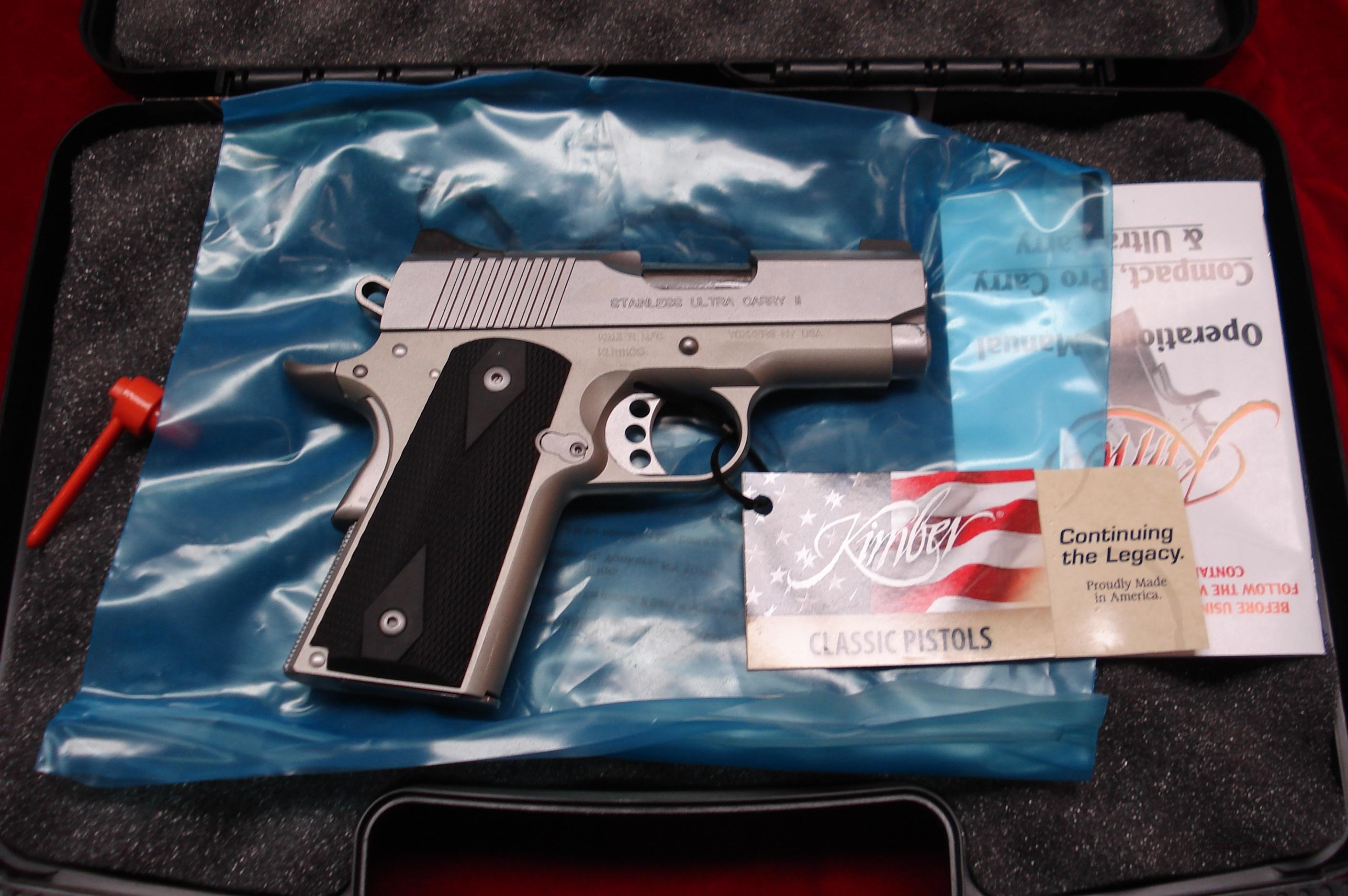 KIMBER STAINLESS ULTRA CARRY II 45acp NEW  Guns > Pistols > Kimber of America Pistols