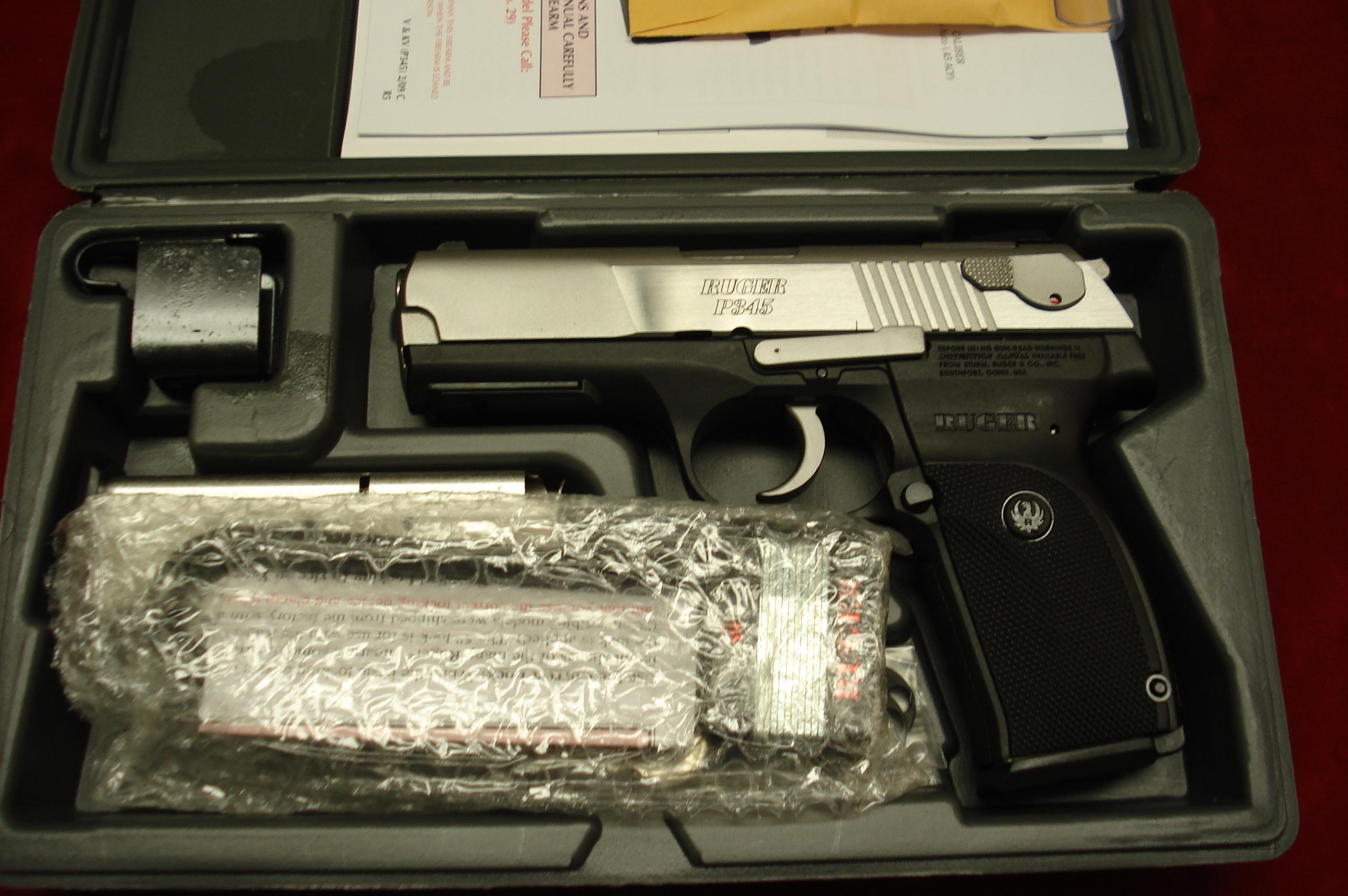 RUGER MODEL KP345PR 45 ACP STAINLESS NEW  Guns > Pistols > Ruger Semi-Auto Pistols > P-Series