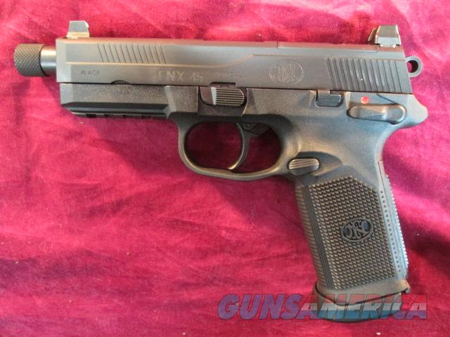 FN FNX-45 TACTICAL BLACK NEW  Guns > Pistols > FNH - Fabrique Nationale (FN) Pistols > FNX