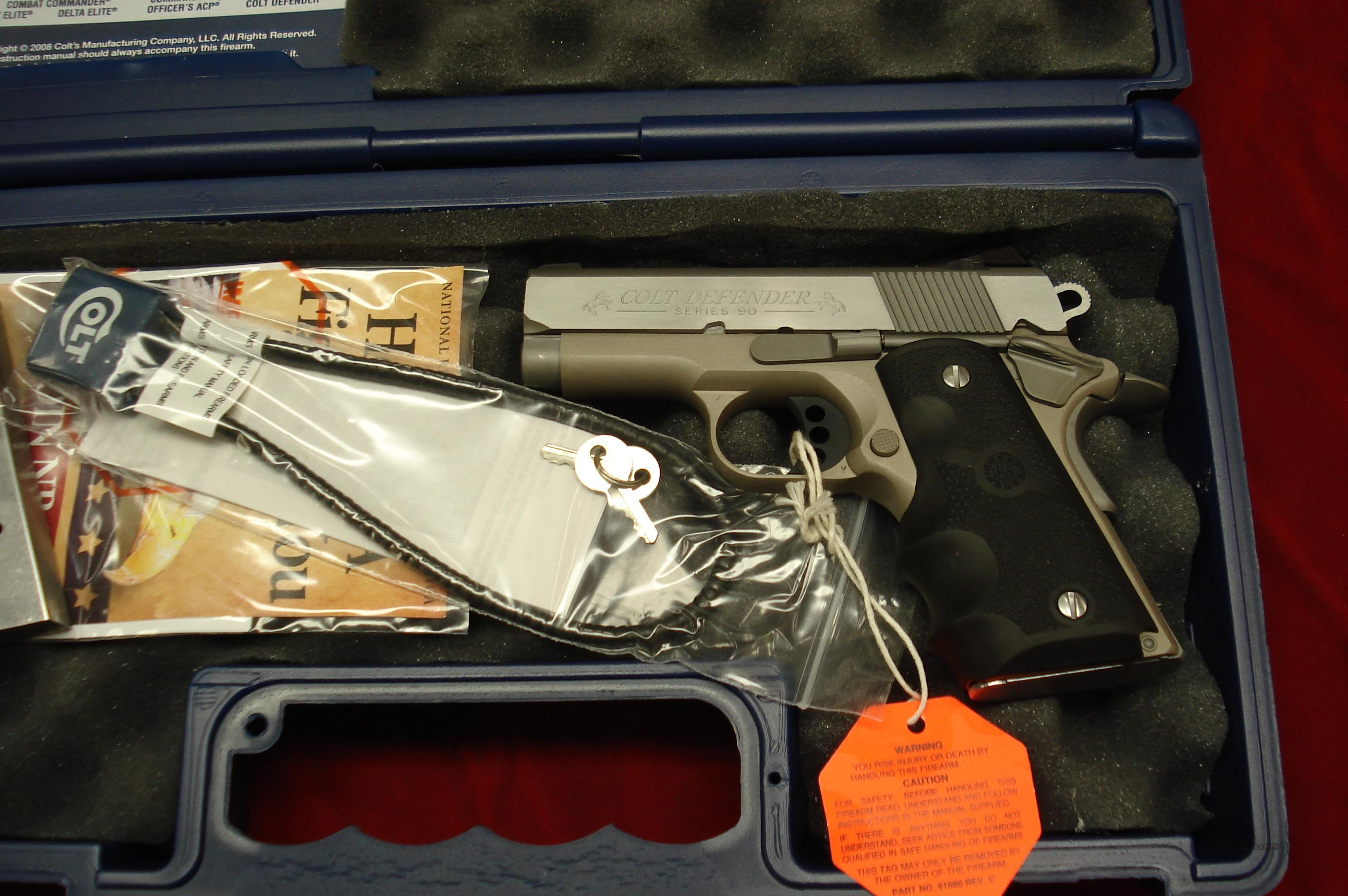 COLT DEFENDER STAINLESS LIGHTWEIGHT 45ACP NEW (POST RECALL)  Guns > Pistols > Colt Automatic Pistols (1911 & Var)