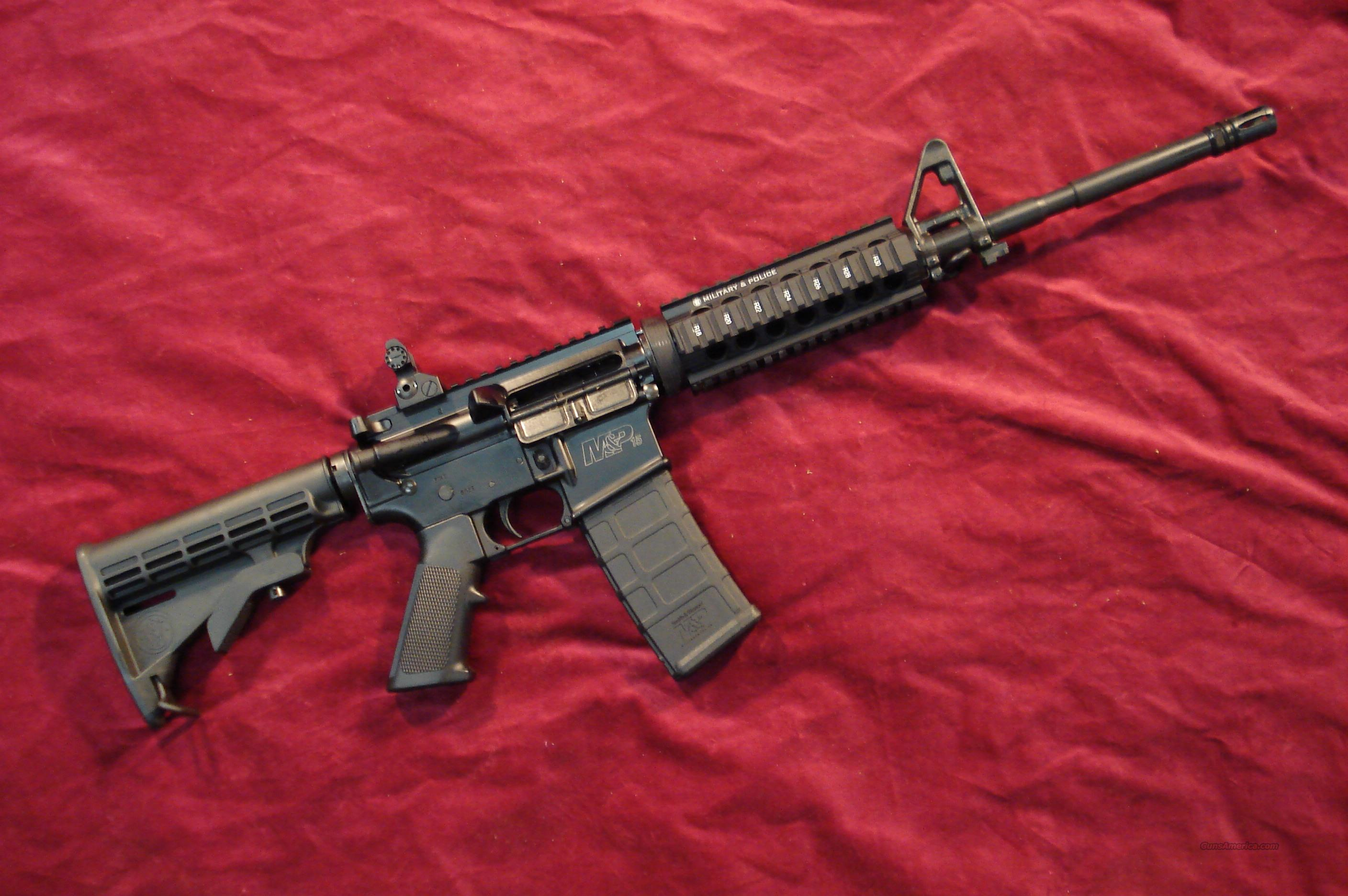SMITH AND WESSON M&P 15X FLAT TOP 223CAL. W/4 RAIL TACTICAL HAND GUARD NEW    Guns > Rifles > Smith & Wesson Rifles > M&P