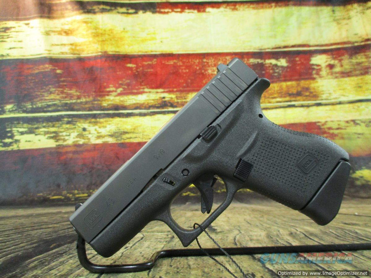 "Glock Model 43 USA Made 9MM 6 Round 3.4"" New (UI4350201)  Guns > Pistols > Glock Pistols > 43/43X"