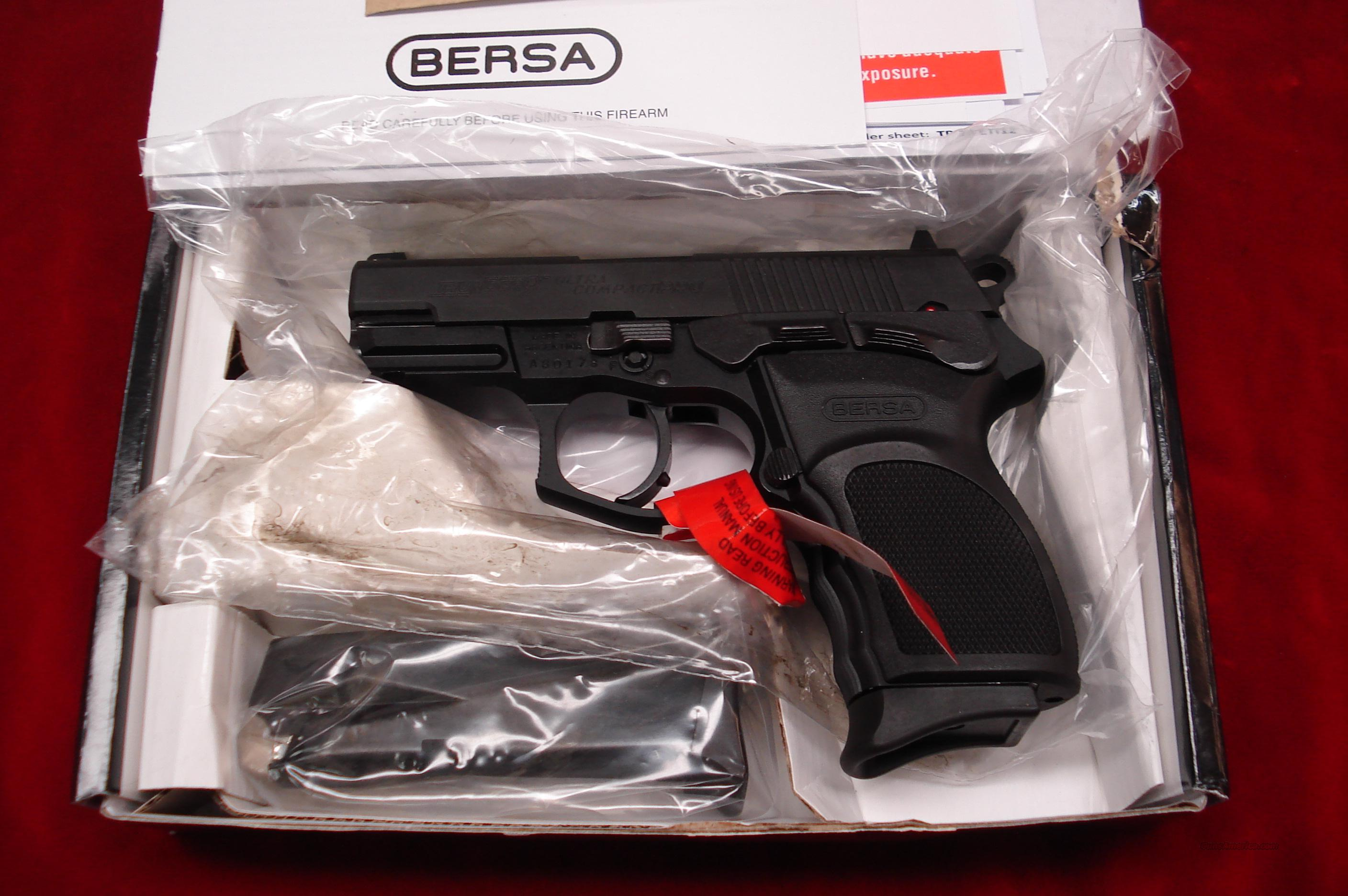 BERSA THUNDER 9 PRO ULTRA COMPACT 13 ROUND MATTE FINISH 9MM NEW   Guns > Pistols > Bersa Pistols