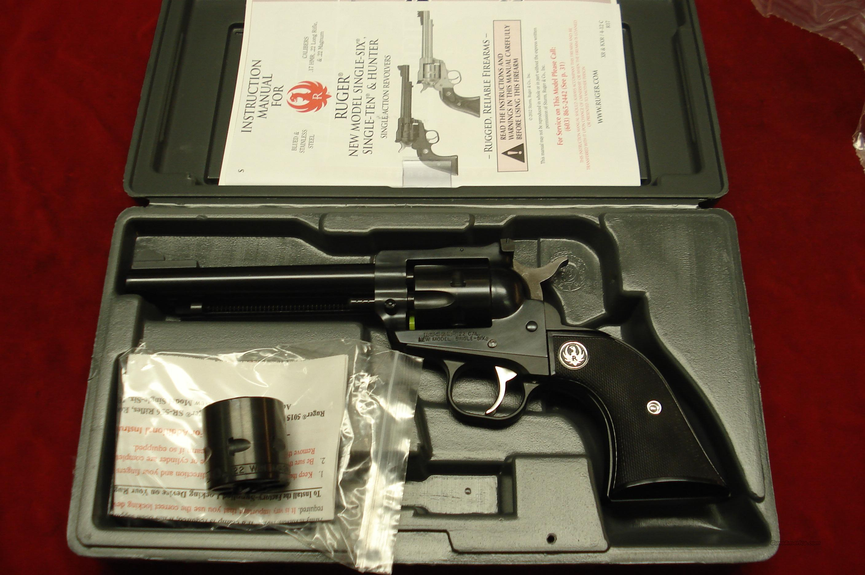 "RUGER SUPER SINGLE-SIX 5.5"" BLUE NEW (NR-5)  Guns > Pistols > Ruger Single Action Revolvers > Single Six Type"
