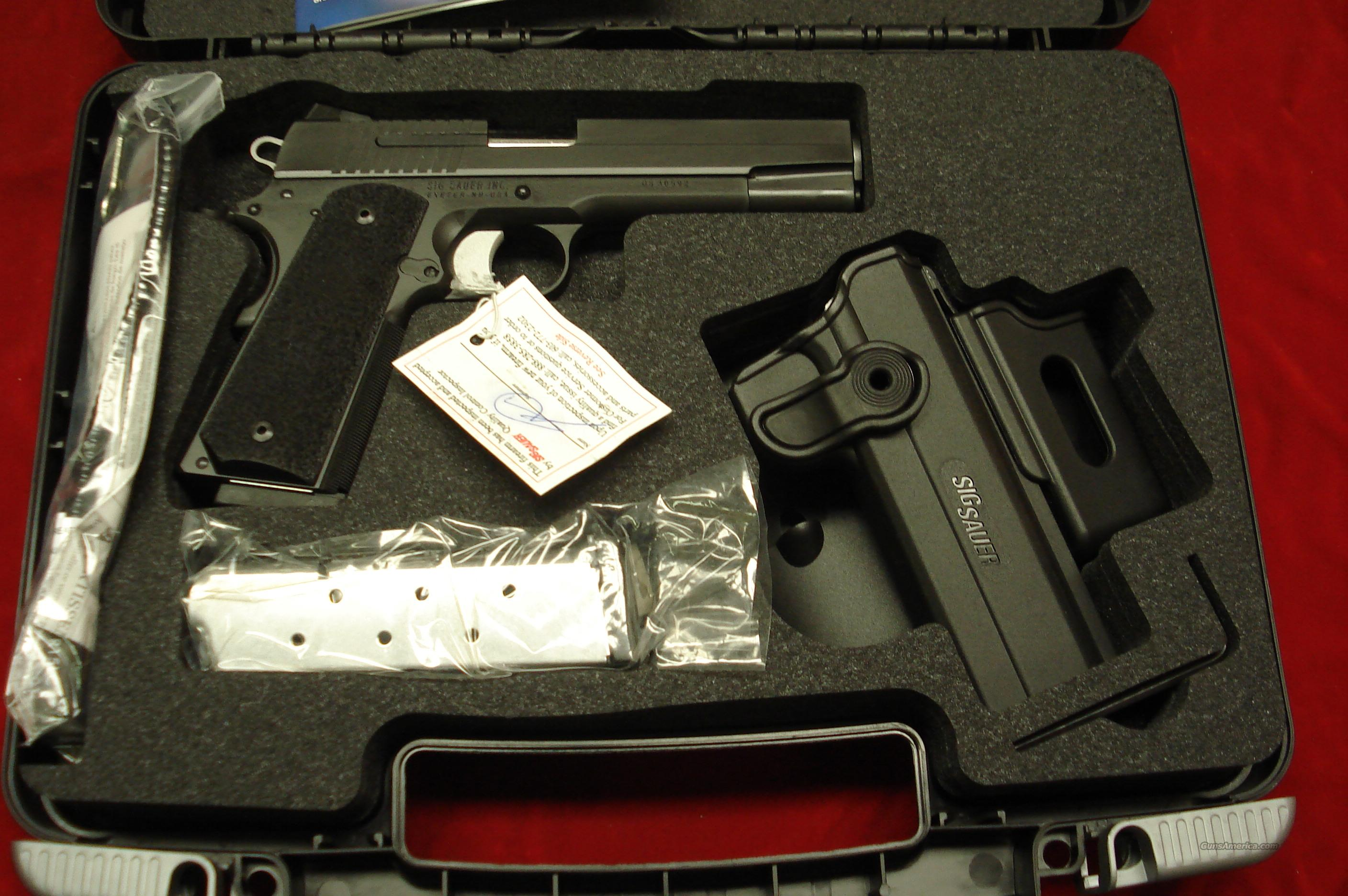 SIG SAUER 1911 TACPAC 45ACP WITH  3 MAGAZINES AND FACTORY HOLSTER NEW  Guns > Pistols > Sig - Sauer/Sigarms Pistols > 1911