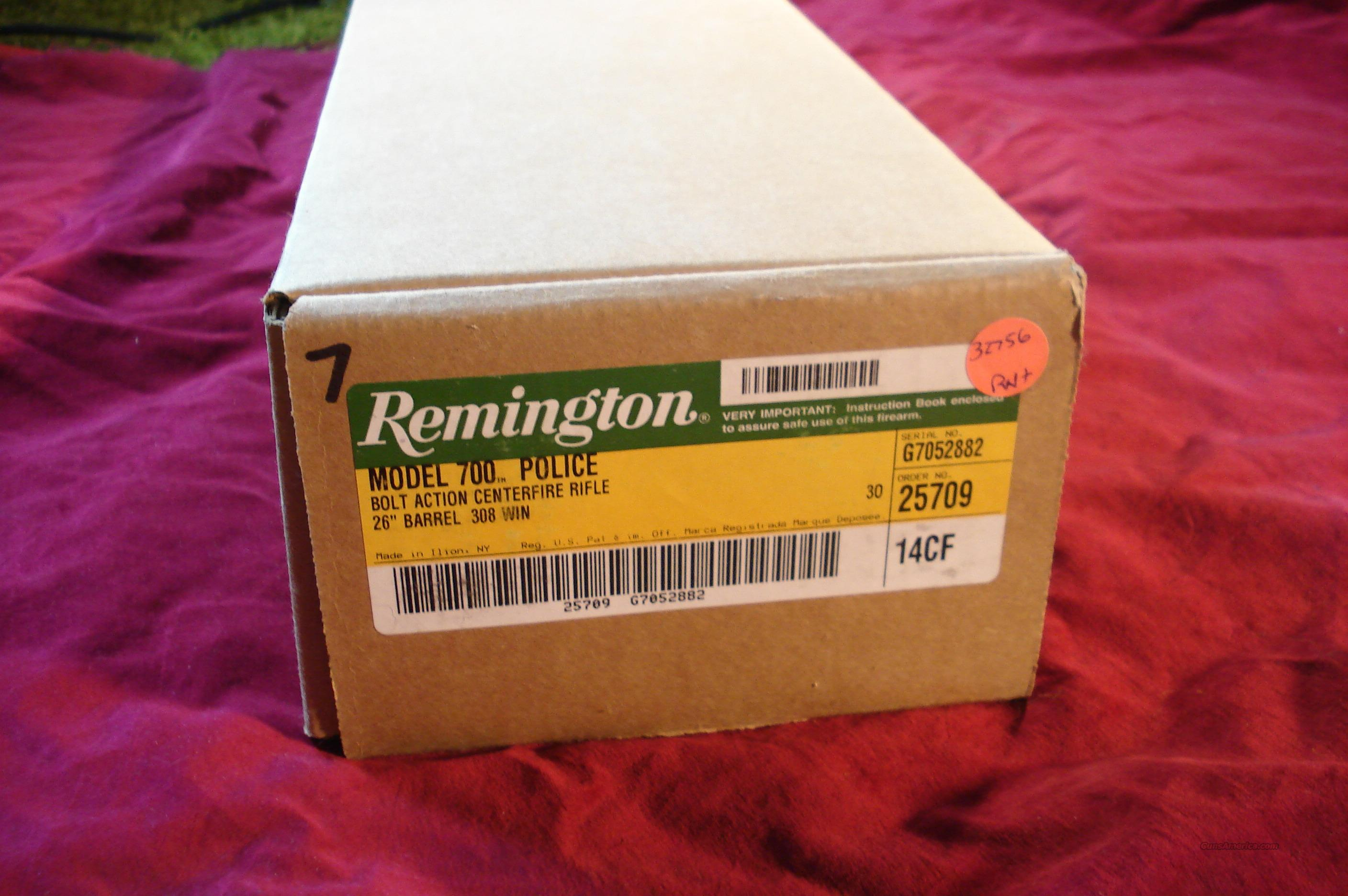 REMINGTON 700 POLICE 308CAL NEW.  Guns > Rifles > Remington Rifles - Modern > Model 700 > Tactical