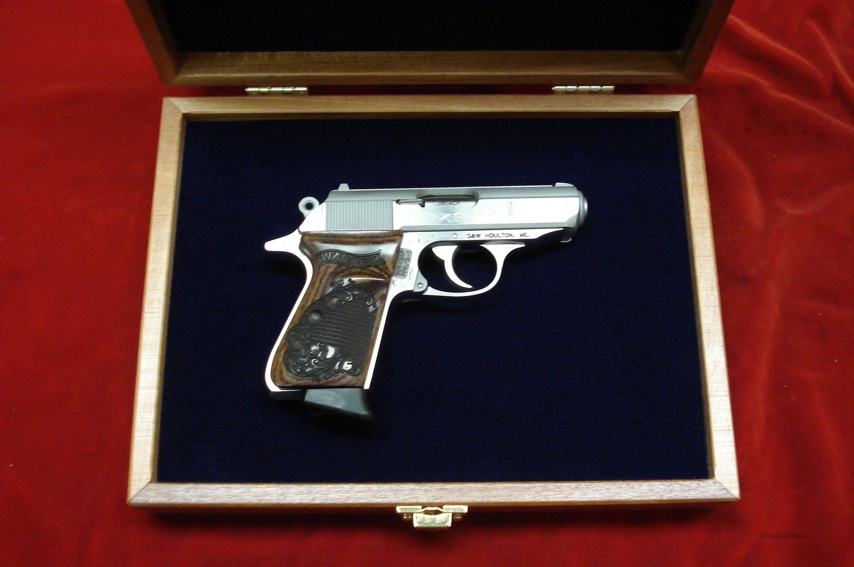 WALTHER PPK/S 380 CAL. ENGRAVED STAINLESS W/PRESENTATION CASE NEW  Guns > Pistols > Walther Pistols > Post WWII > PP Series