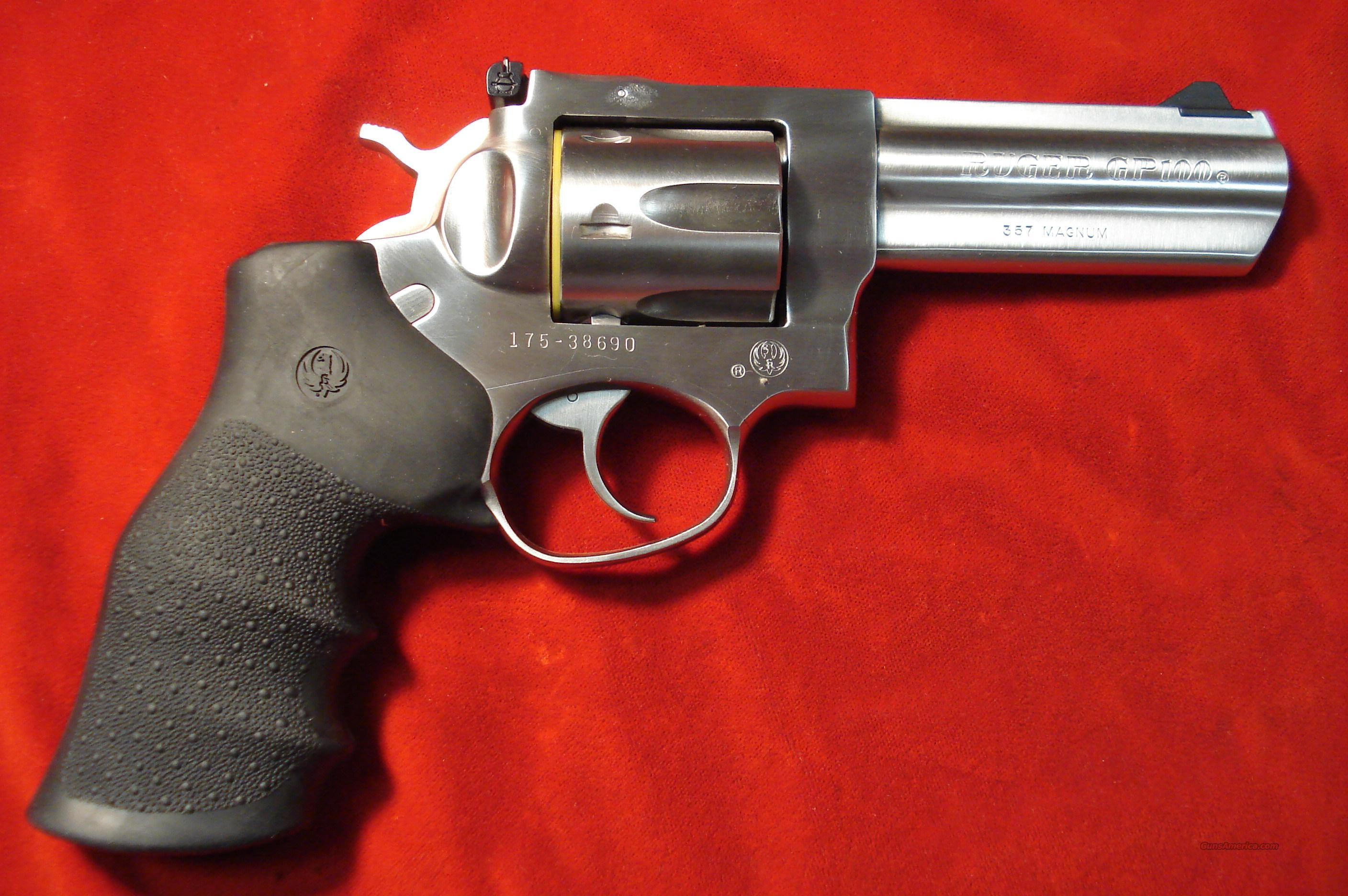 "RUGER GP100 357MAG 4"" STAINLESS NEW  (KGP-141)  (01705)  Guns > Pistols > Ruger Double Action Revolver"