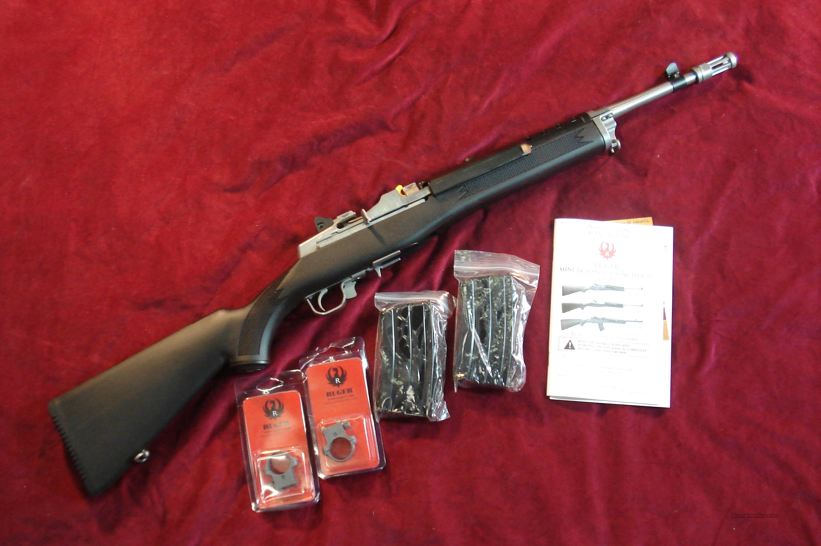 RUGER STAINLESS MINI 14 TACTICAL RIFLE 223 CAL. NEW (M-14/20GBCP)  Guns > Rifles > Ruger Rifles > Mini-14 Type