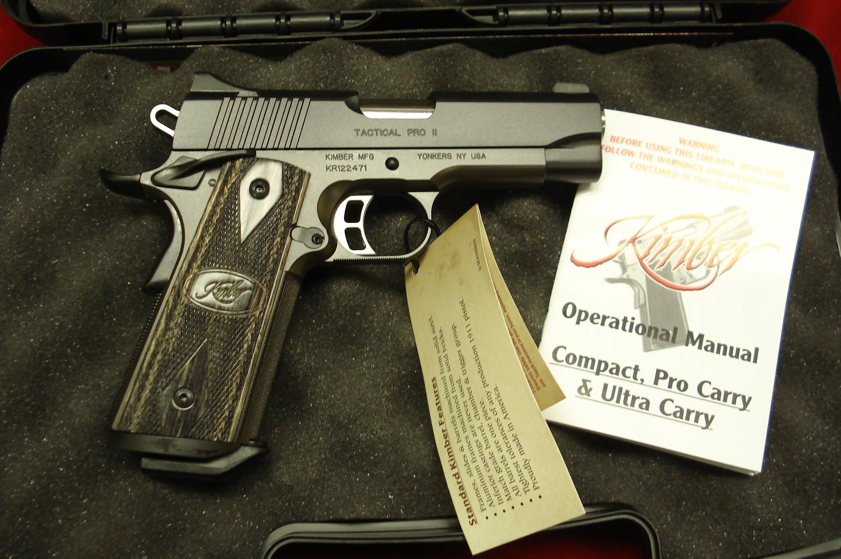 KIMBER TACTICAL PRO II 45ACP W/NIGHT SIGHTS NEW  Guns > Pistols > Kimber of America Pistols