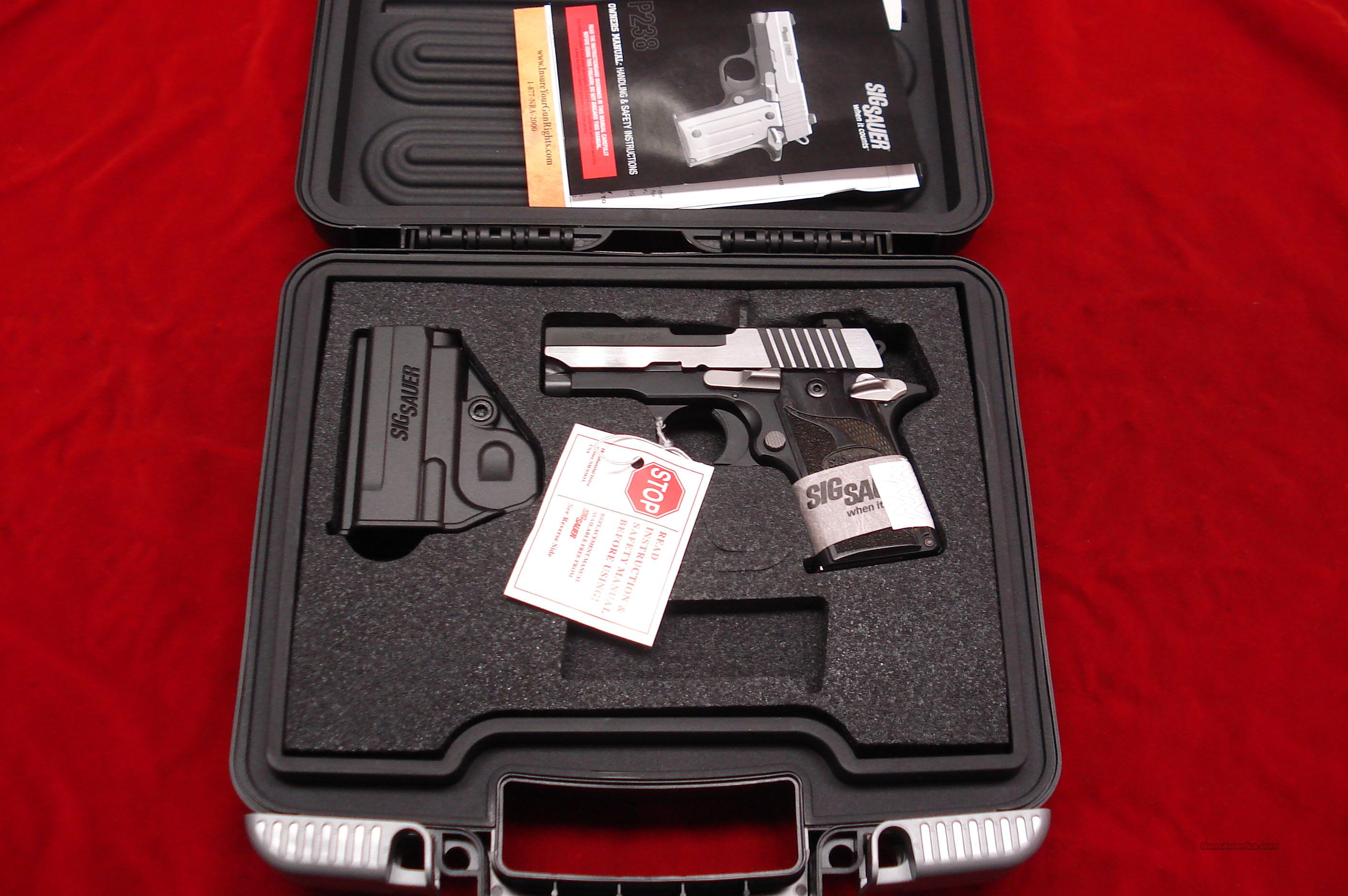 {{ SALE PRICE }} SIG SAUER P238 EQUINOX BLACKEN STAINLESS DUO-TONE 380CAL. W/NIGHT SIGHTS NEW   Guns > Pistols > Sig - Sauer/Sigarms Pistols > Other