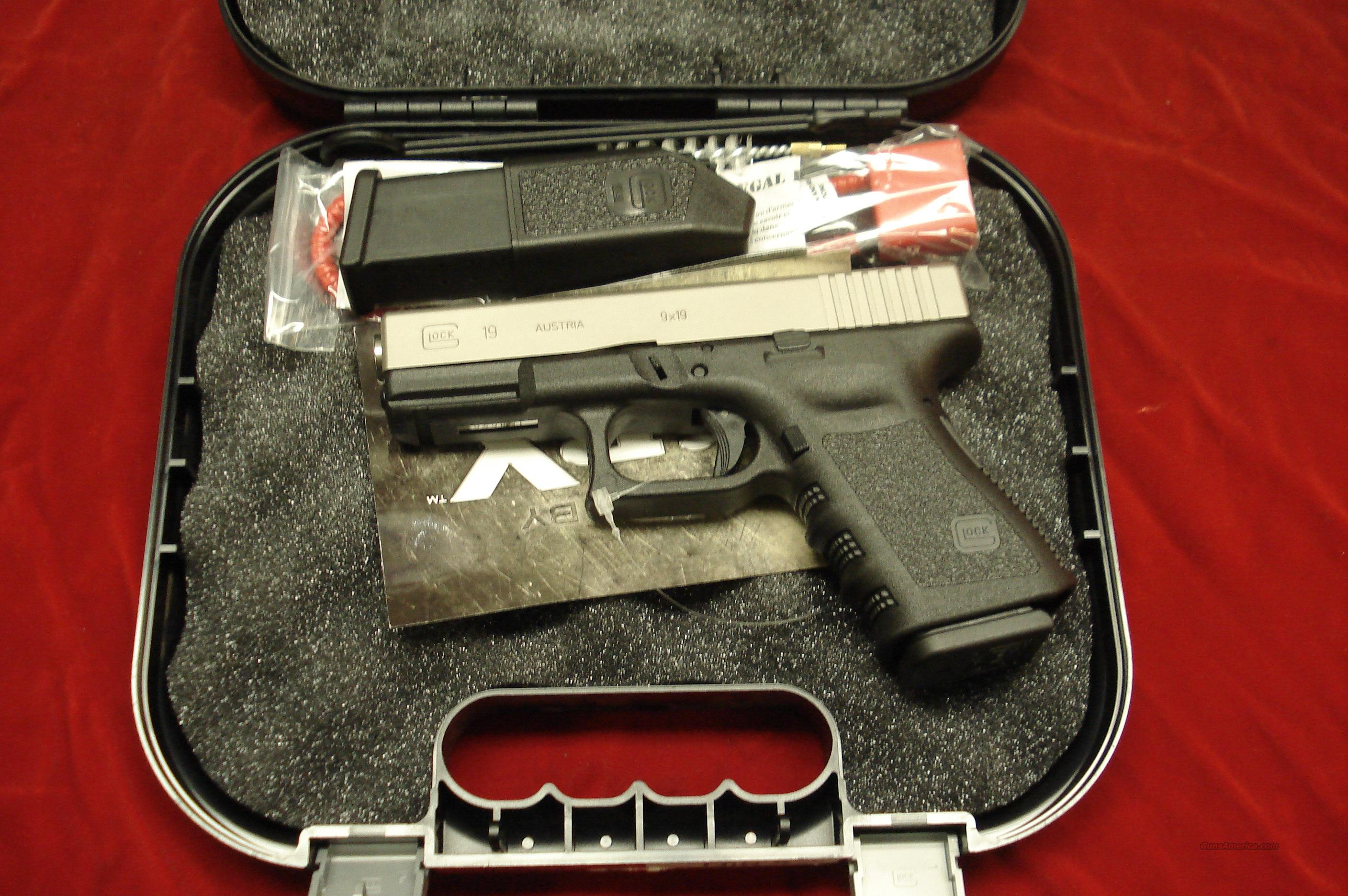GLOCK MODEL 19 GEN3 9MM NICKEL NEW   Guns > Pistols > Glock Pistols > 19