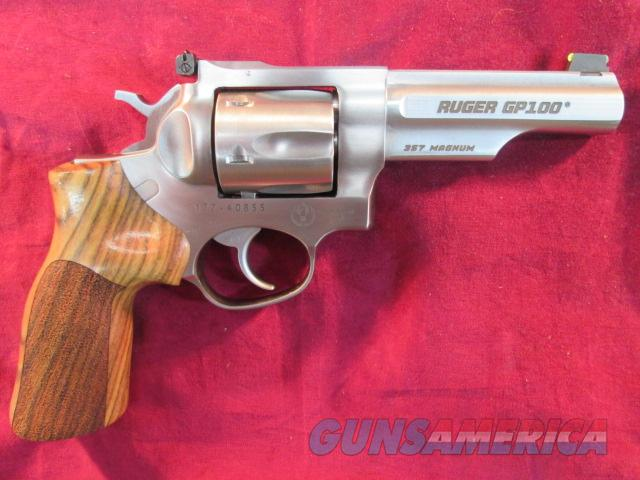 "RUGER GP100 MATCH CHAMPION 357MAG STAINLESS 4.2"" HARDWOOD GRIP AND ADJUSTABLE SIGHTS NEW ( KGP141MCF)   Guns > Pistols > Ruger Double Action Revolver > Security Six Type"