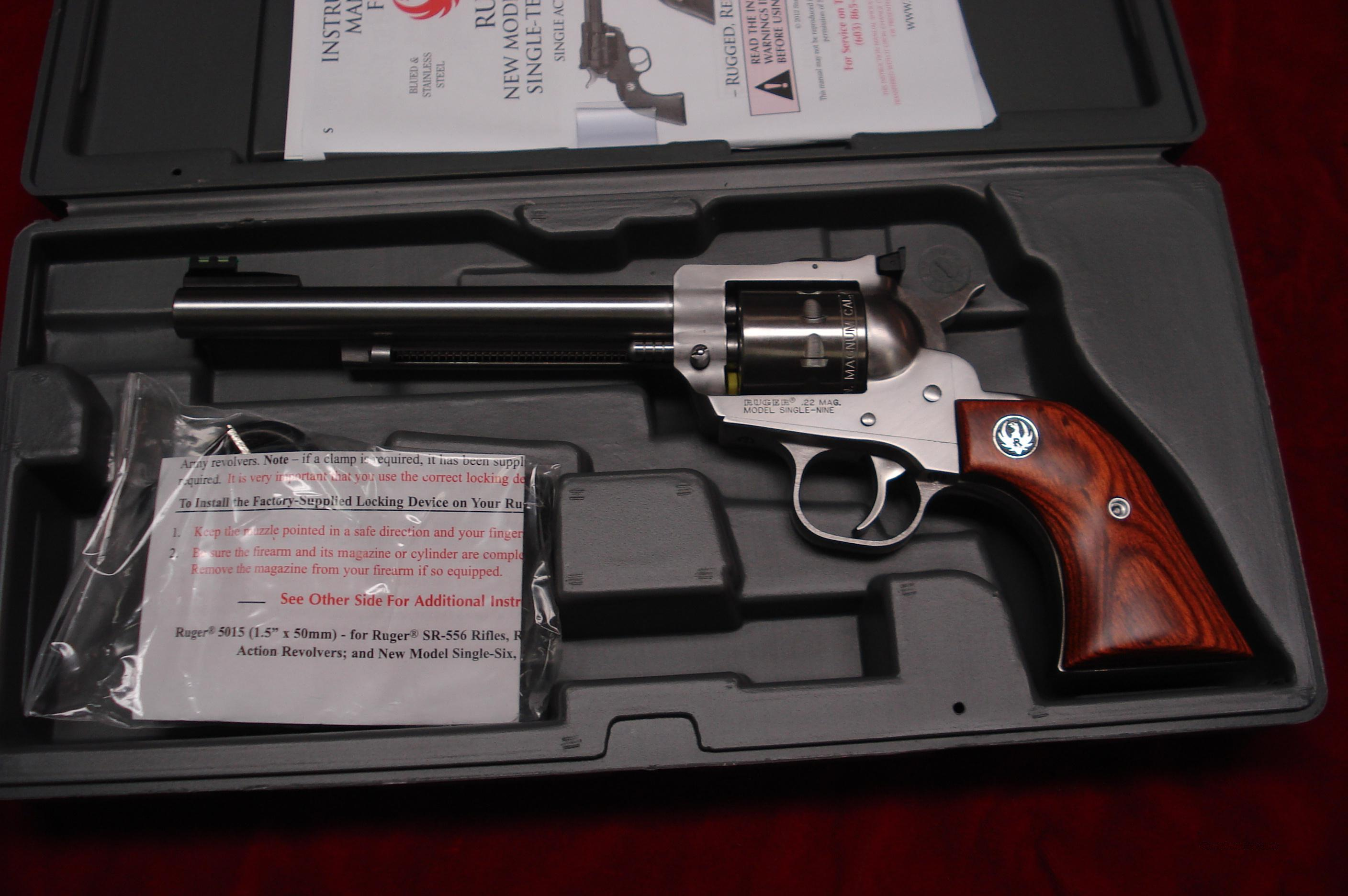 "RUGER SUPER SINGLE NINE 6.5"" STAINLESS 22MAG. CAL. NEW (KNR-6-9M)  Guns > Pistols > Ruger Single Action Revolvers > Single Six Type"