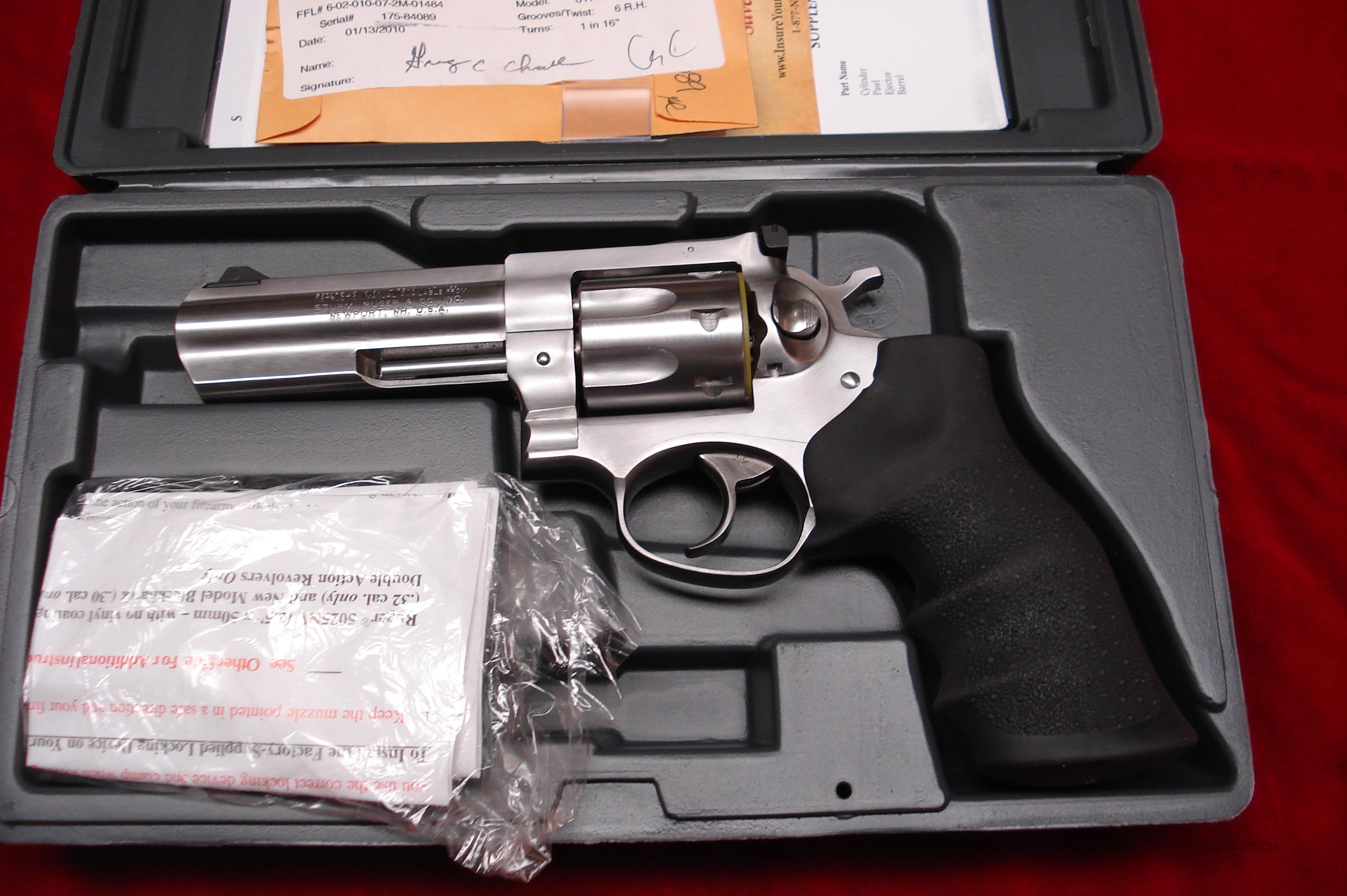 "RUGER STAINLESS GP100 4"" 327 FED.MAG. NEW (KGP-4327-7)   Guns > Pistols > Ruger Double Action Revolver > Security Six Type"