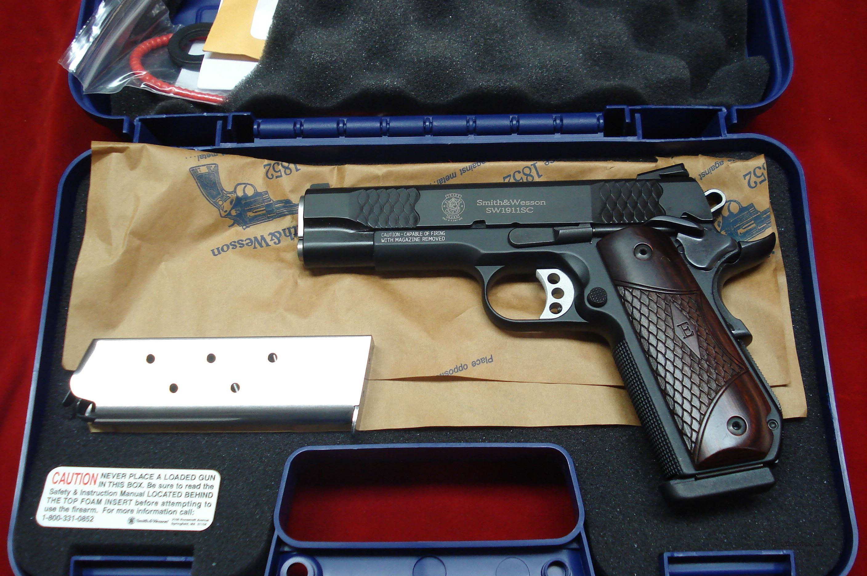 "SMITH AND WESSON SW1911SC ""E"" SERIES SCANDIUM 45ACP W/NIGHT SIGHTS NEW  Guns > Pistols > Smith & Wesson Pistols - Autos > Alloy Frame"