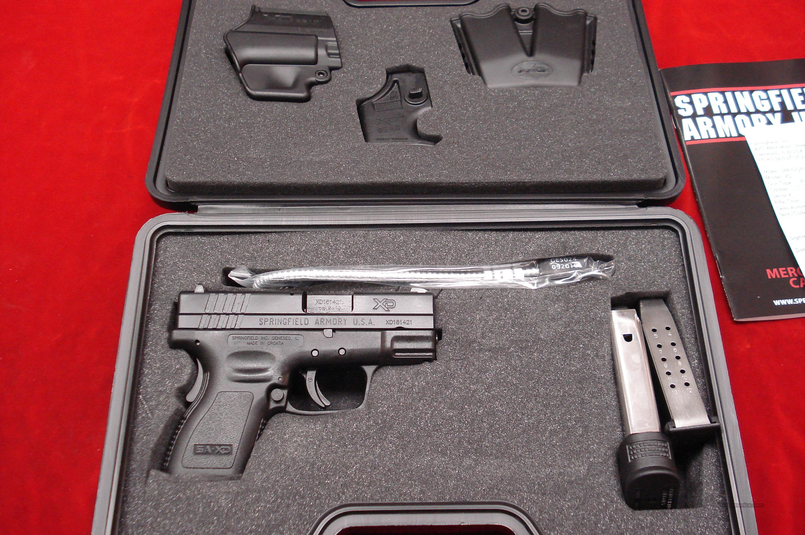 SPRINGFIELD ARMORY XD 9MM SUB COMPACT PACKAGE NEW   Guns > Pistols > Springfield Armory Pistols > XD (eXtreme Duty)