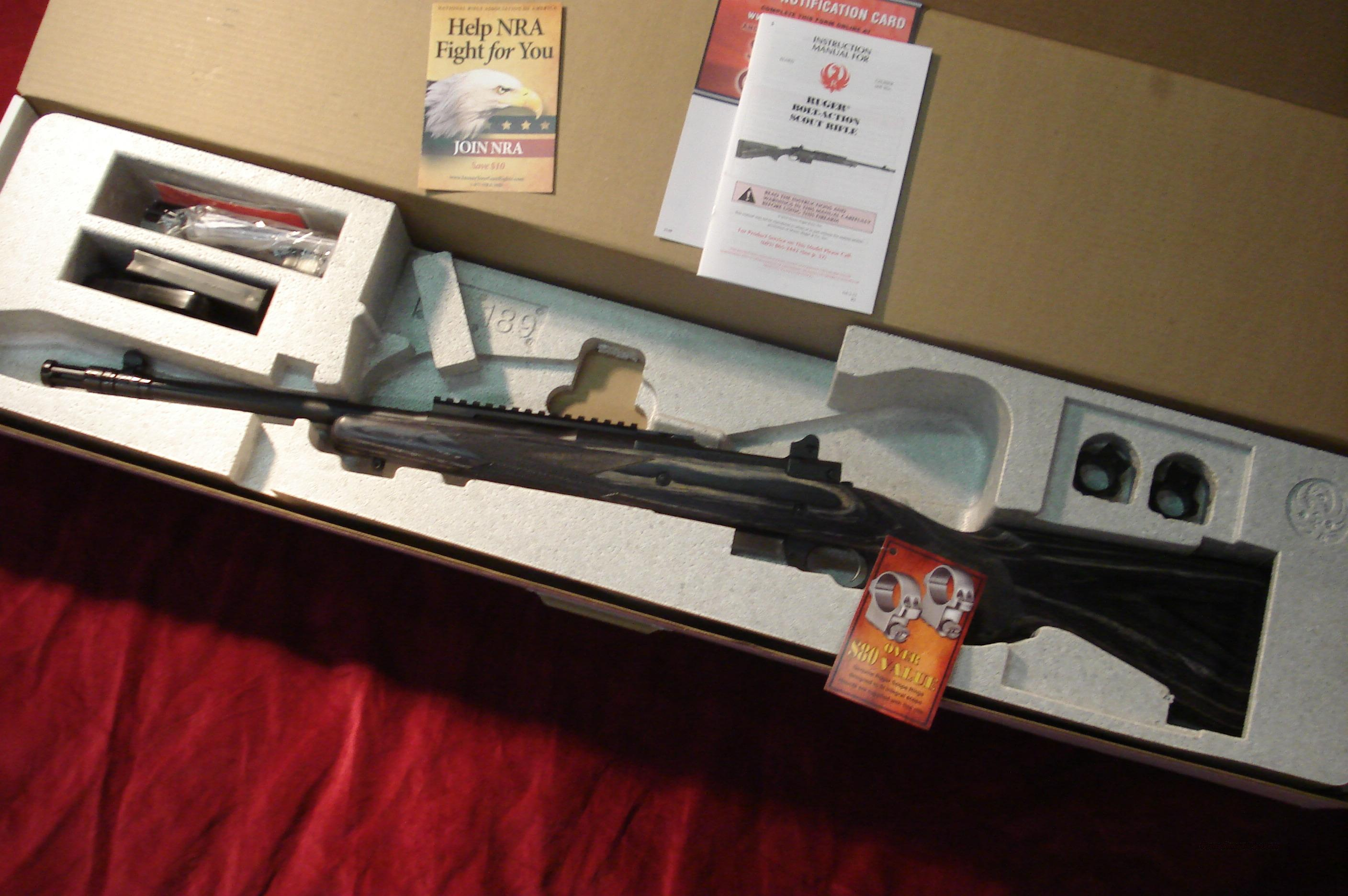 RUGER M77 GUNSITE SCOUT 308 CAL. NEW (M77-GS)  Guns > Rifles > Ruger Rifles > Model 77