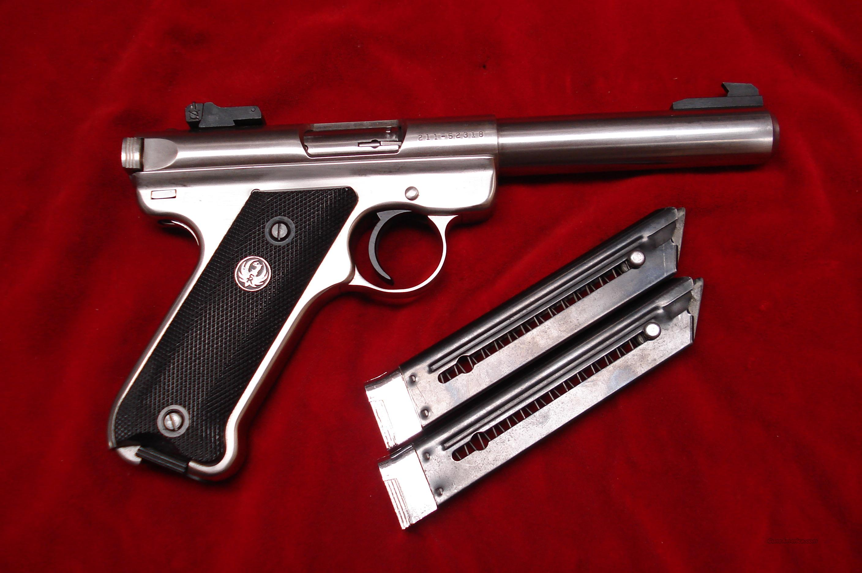 "RUGER MKII 5.5"" STAINLESS BULL BARREL USED  Guns > Pistols > Ruger Semi-Auto Pistols > Mark II Family"