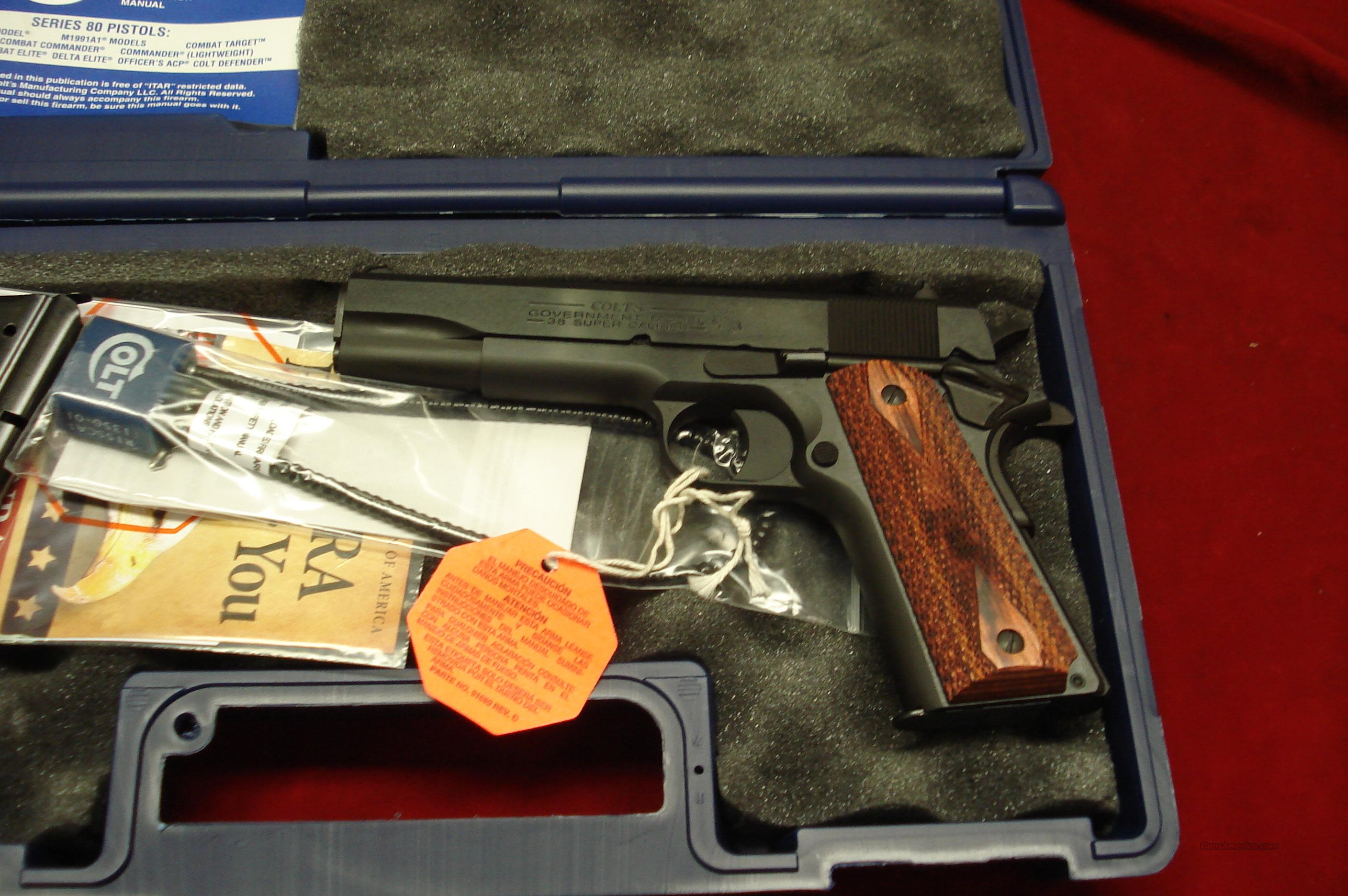 "COLT GOVERNMENT MODEL BLUE 38 SUPER  ""100 YEARS OF SERVICE"" NEW  Guns > Pistols > Colt Automatic Pistols (1911 & Var)"