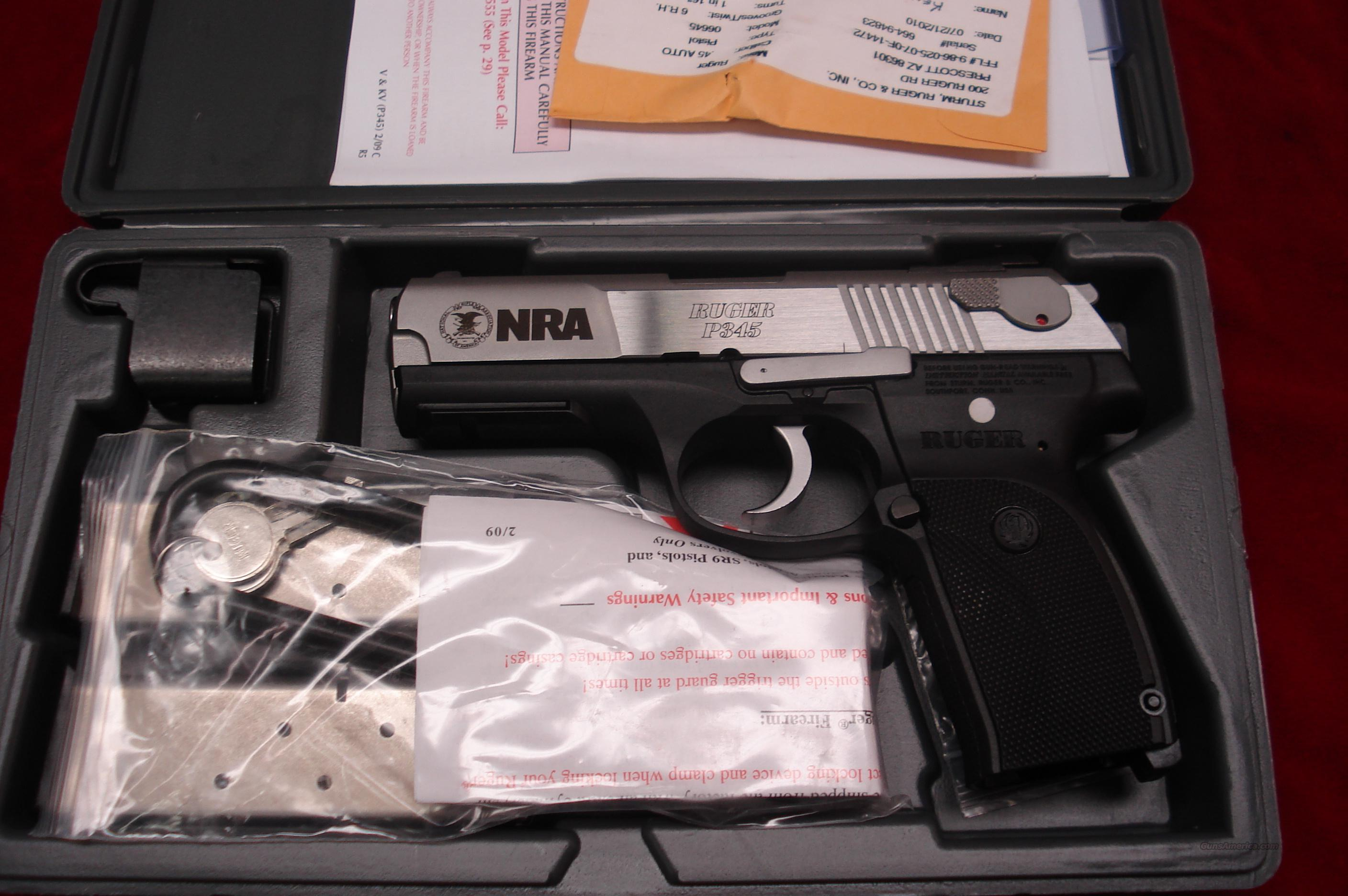 NRA RUGER MODEL KP345PR 45 ACP STAINLESS LNIB  Guns > Pistols > Ruger Semi-Auto Pistols > P-Series