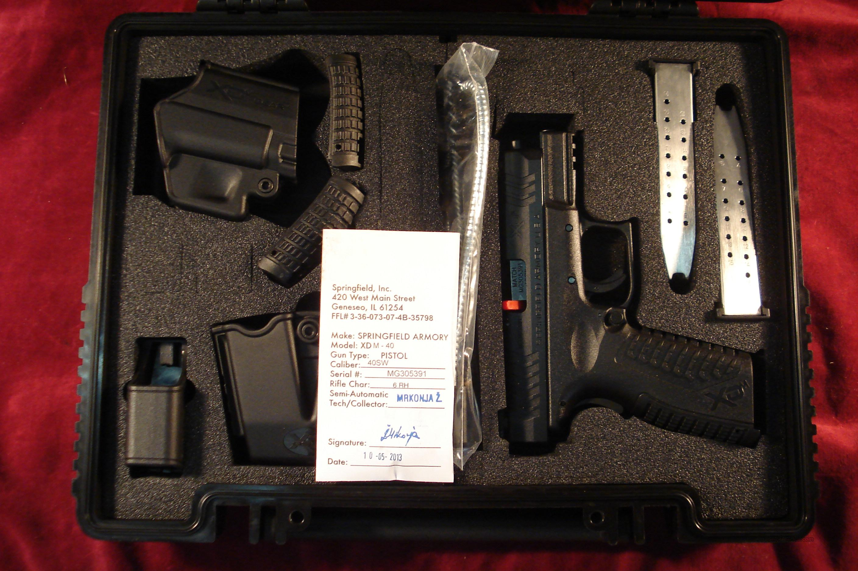 "SPRINGFIELD XDM 3.8"" 40SW BLACK WITH NIGHT SIGHTS NEW  Guns > Pistols > Springfield Armory Pistols > XD-M"