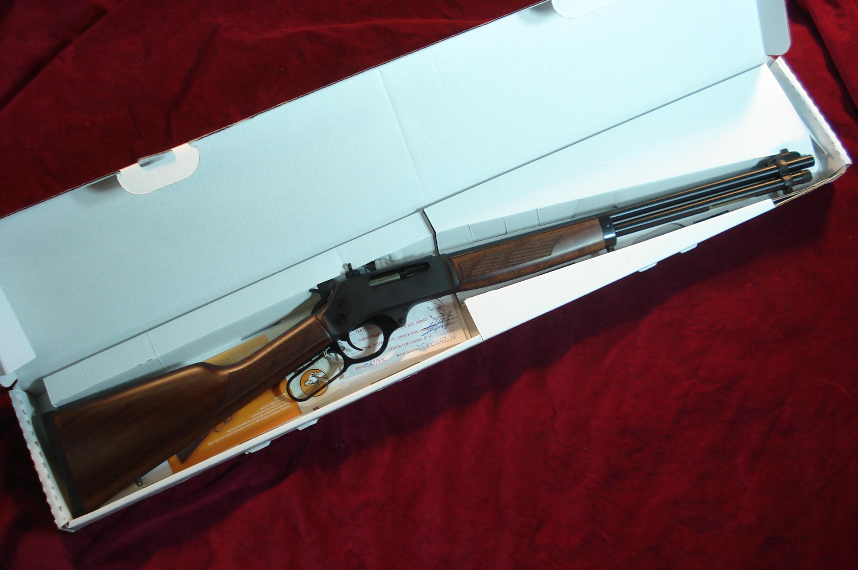 HENRY 30-30 CAL. BLUE STEEL RECEIVER WITH ROUND BARREL NEW  Guns > Rifles > Henry Rifle Company