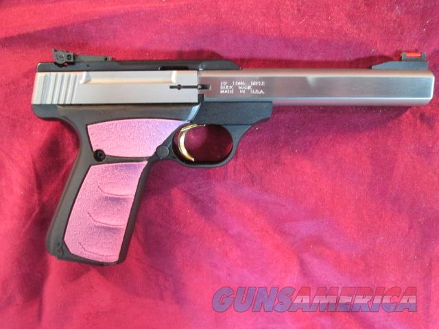 "BROWNING BUCKMARK PLUS UFX, FUSCHIA GRIP AND 5.5"" STAINLESS SLAB SIDE BARREL NEW  Guns > Pistols > Browning Pistols > Buckmark"