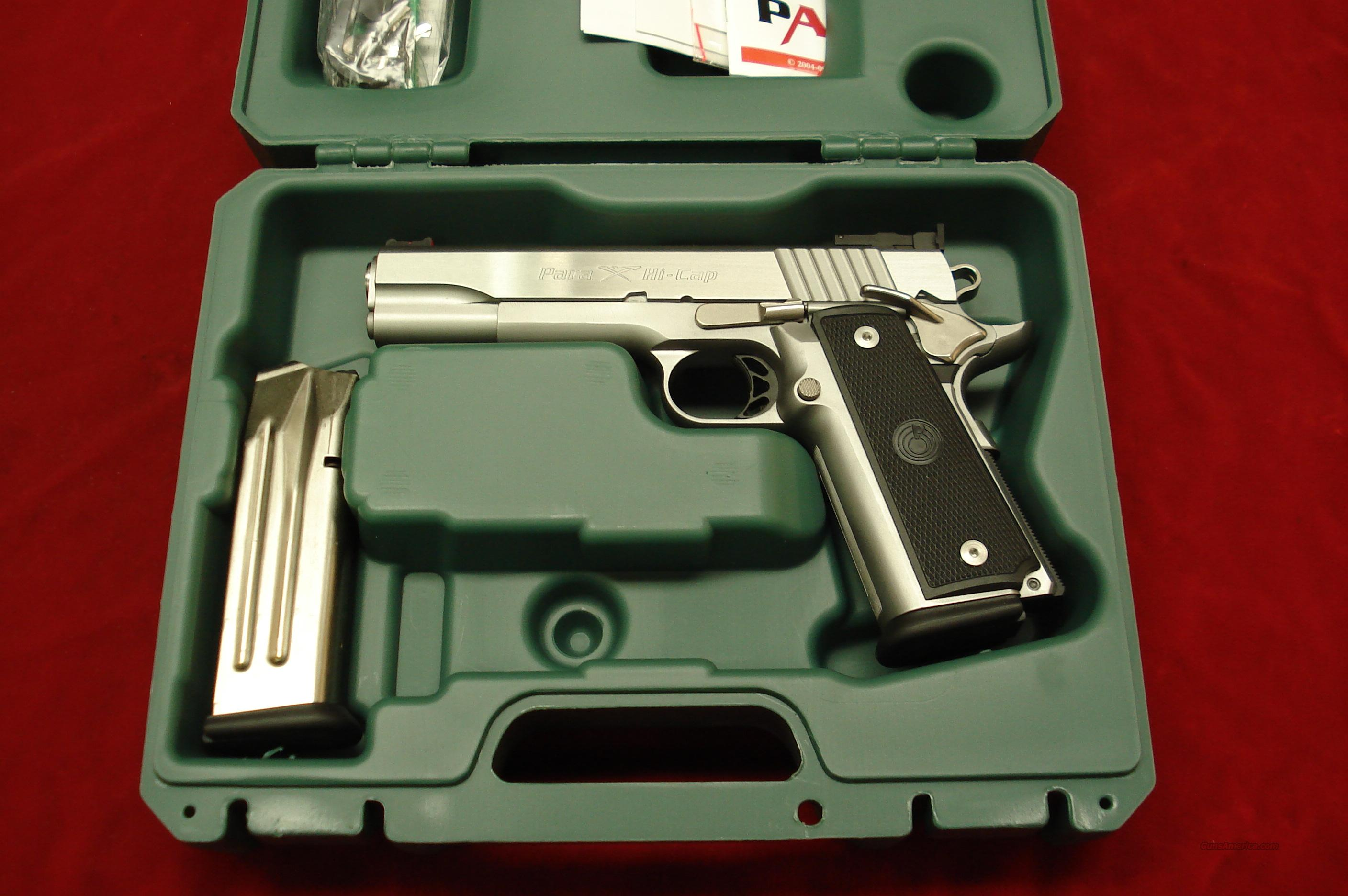 PARA ORDNANCE STAINLESS P18-9 HIGH CAPACITY 1911 9MM NEW  Guns > Pistols > Para Ordnance Pistols