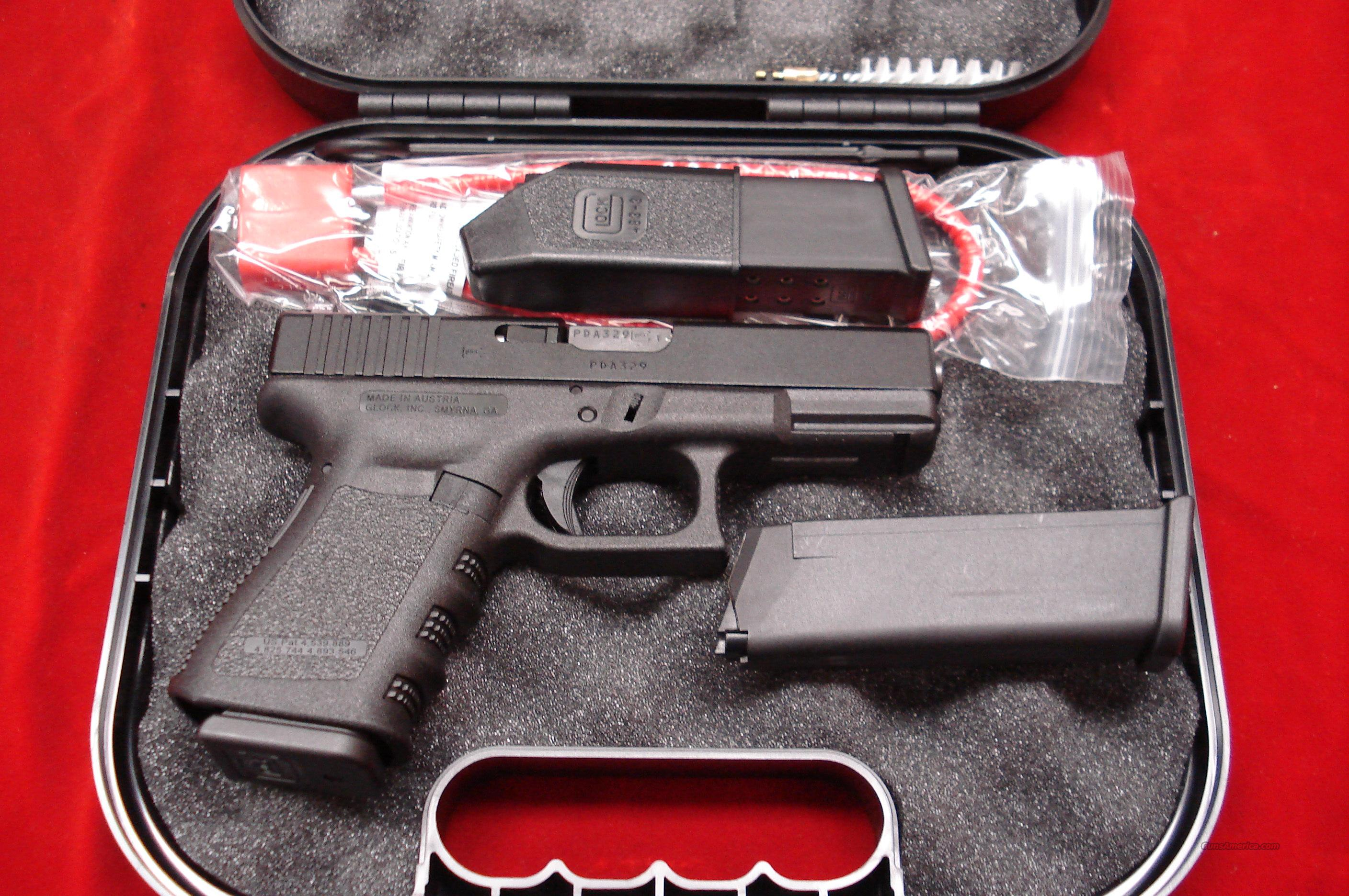 GLOCK MODEL 19 9MM WITH TRIJICON NIGHT SIGHTS AND 3 HIGH CAPACITY MAGAZINES NEW  Guns > Pistols > Glock Pistols > 19
