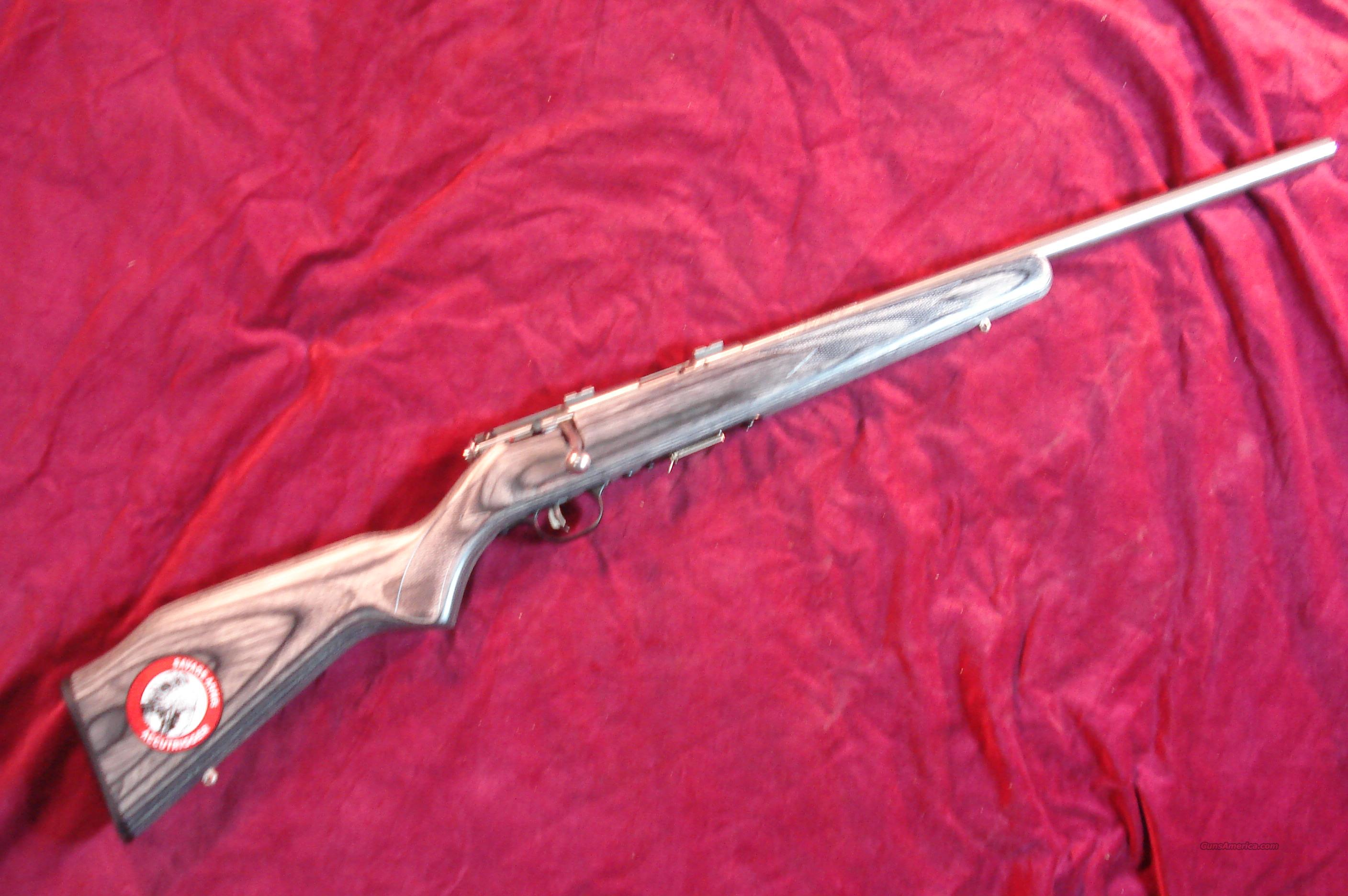 SAVAGE 17HMR STAINLESS GREY LAMINATE  NEW (93R17BVSS)  Guns > Rifles > Savage Rifles > Accutrigger Models > Sporting