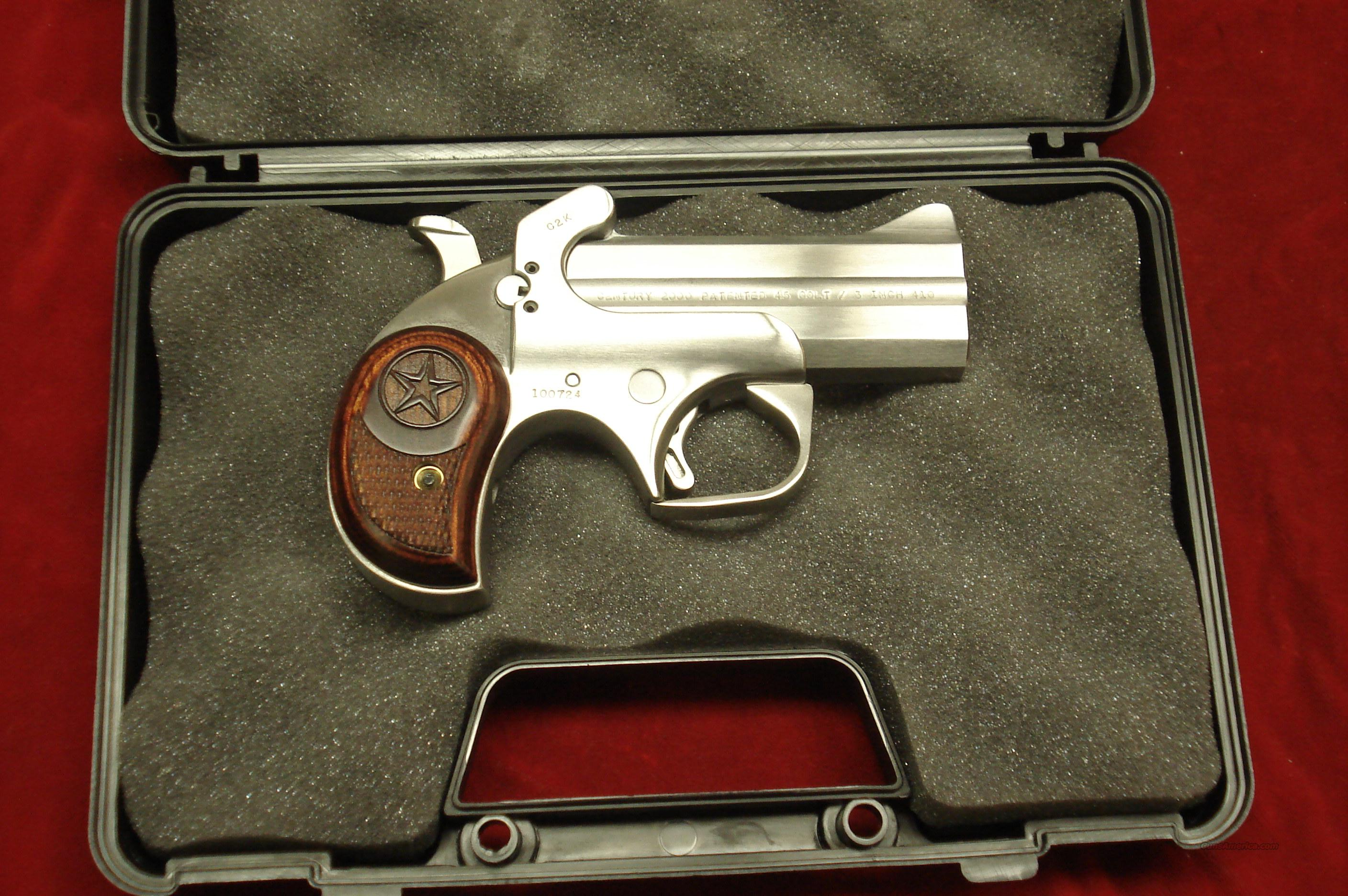 BOND ARMS CENTURY 2000 45COLT/410G STAINLESS DERRINGER NEW  Guns > Pistols > Bond Derringers