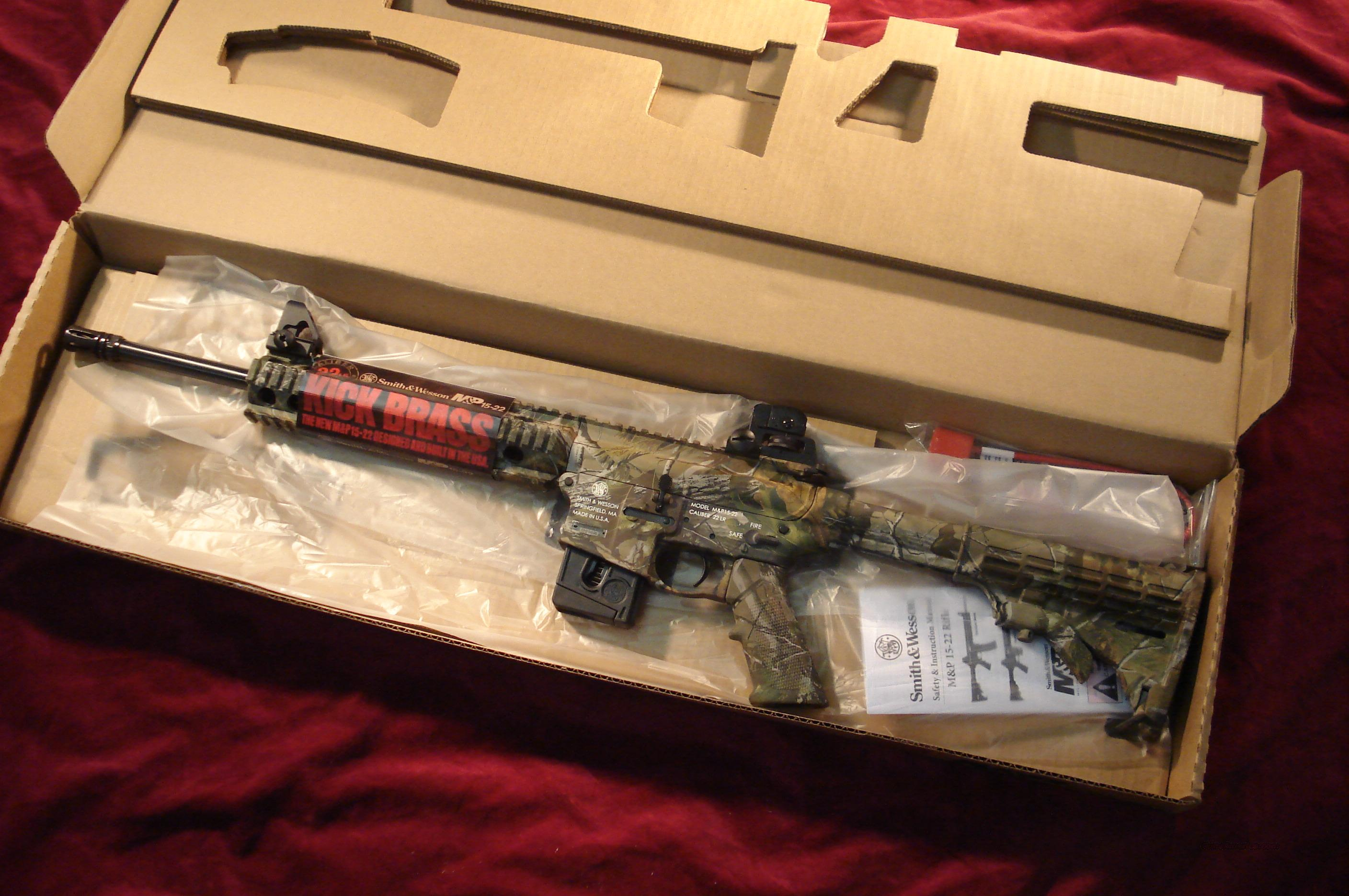 SMITH & WESSON M&P15-22 REALTREE APG CAMO WITH COMP. NEW  Guns > Rifles > Smith & Wesson Rifles > M&P