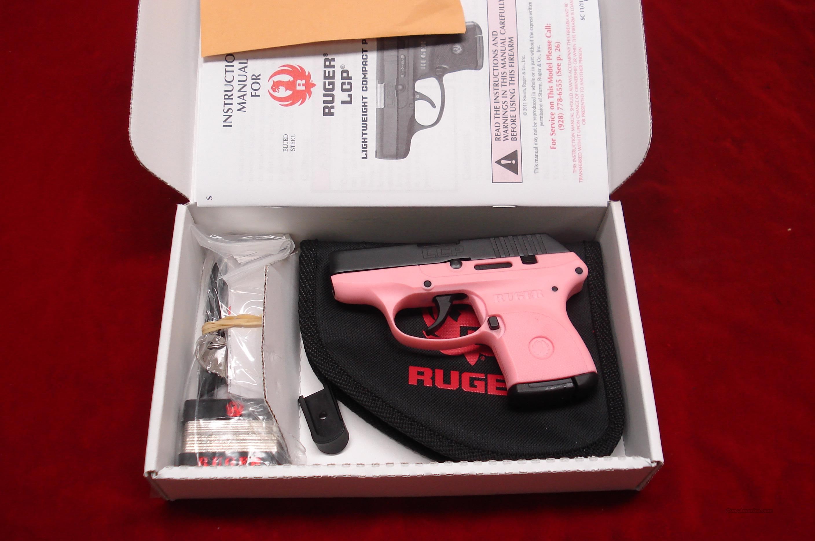 RUGER PINK LCP (Lightweight Compact Pistol) 380CAL. NEW  Guns > Pistols > Ruger Semi-Auto Pistols > LCP