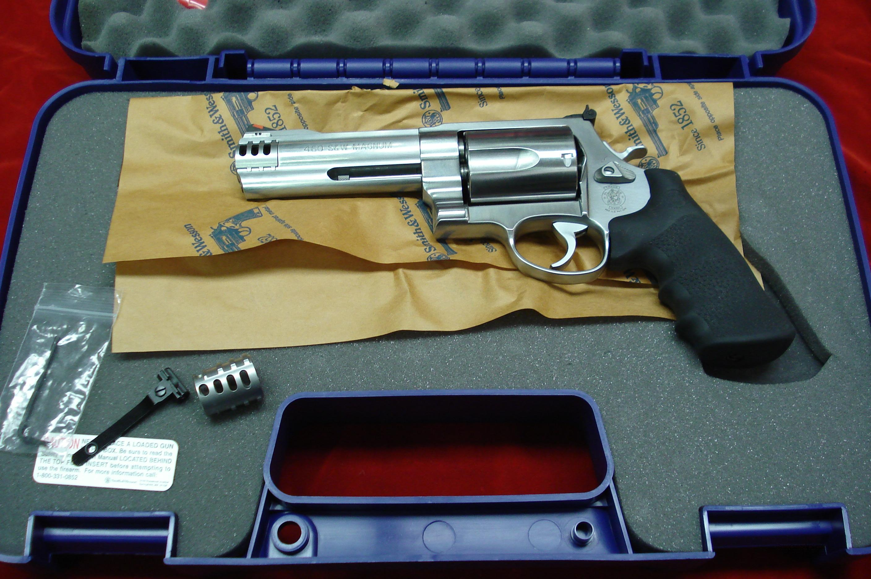 "SMITH AND WESSON 460V STAINLESS 460S&W CAL. 5""  NEW  Guns > Pistols > Smith & Wesson Revolvers > Full Frame Revolver"