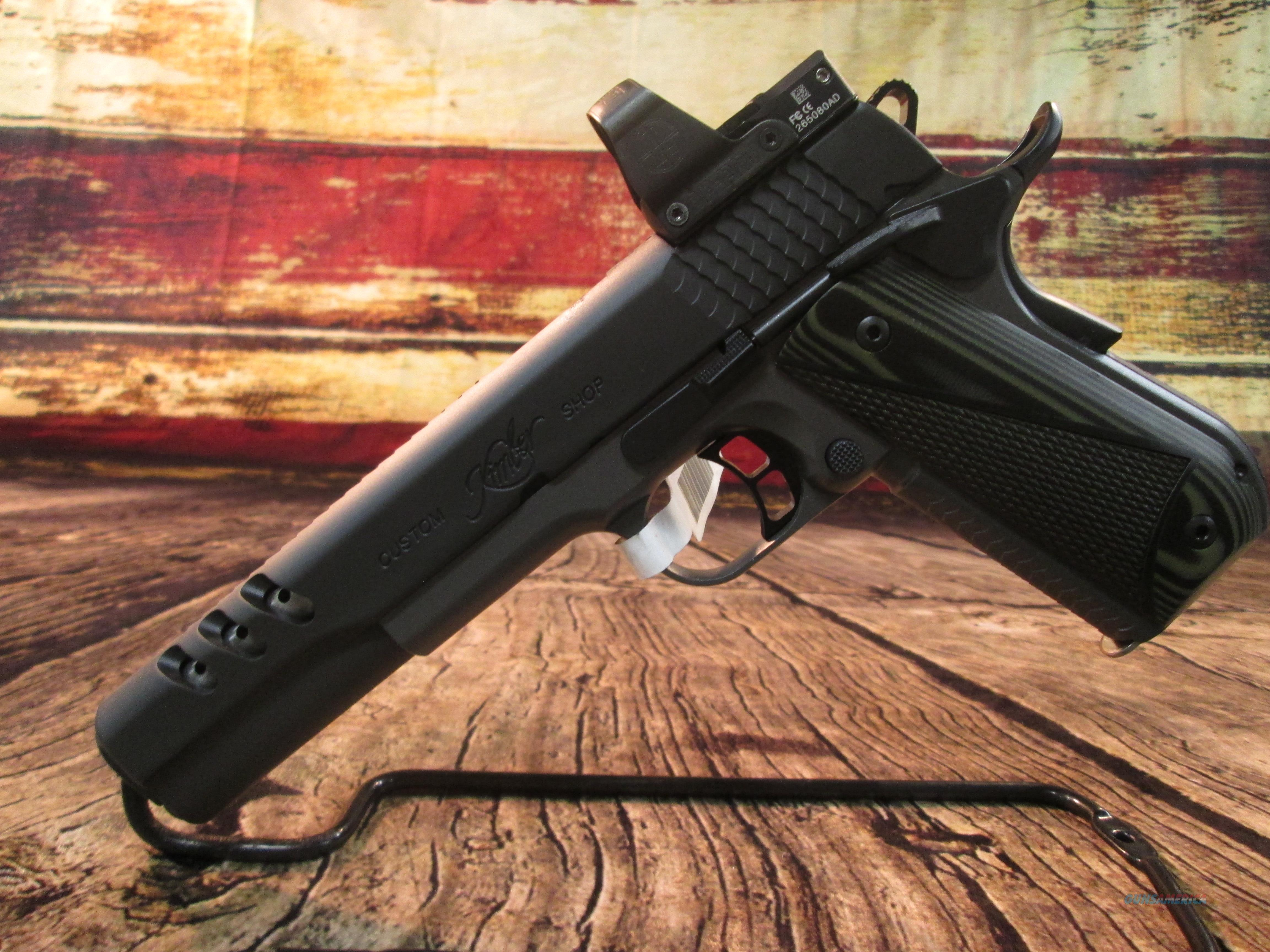 "KIMBER "" SUPER JAGARE "" 10MM CUSTOM SHOP W/ LEUPOLD DELTAPOINT OPTIC NEW (3000278)    Guns > Pistols > Kimber of America Pistols > 1911"