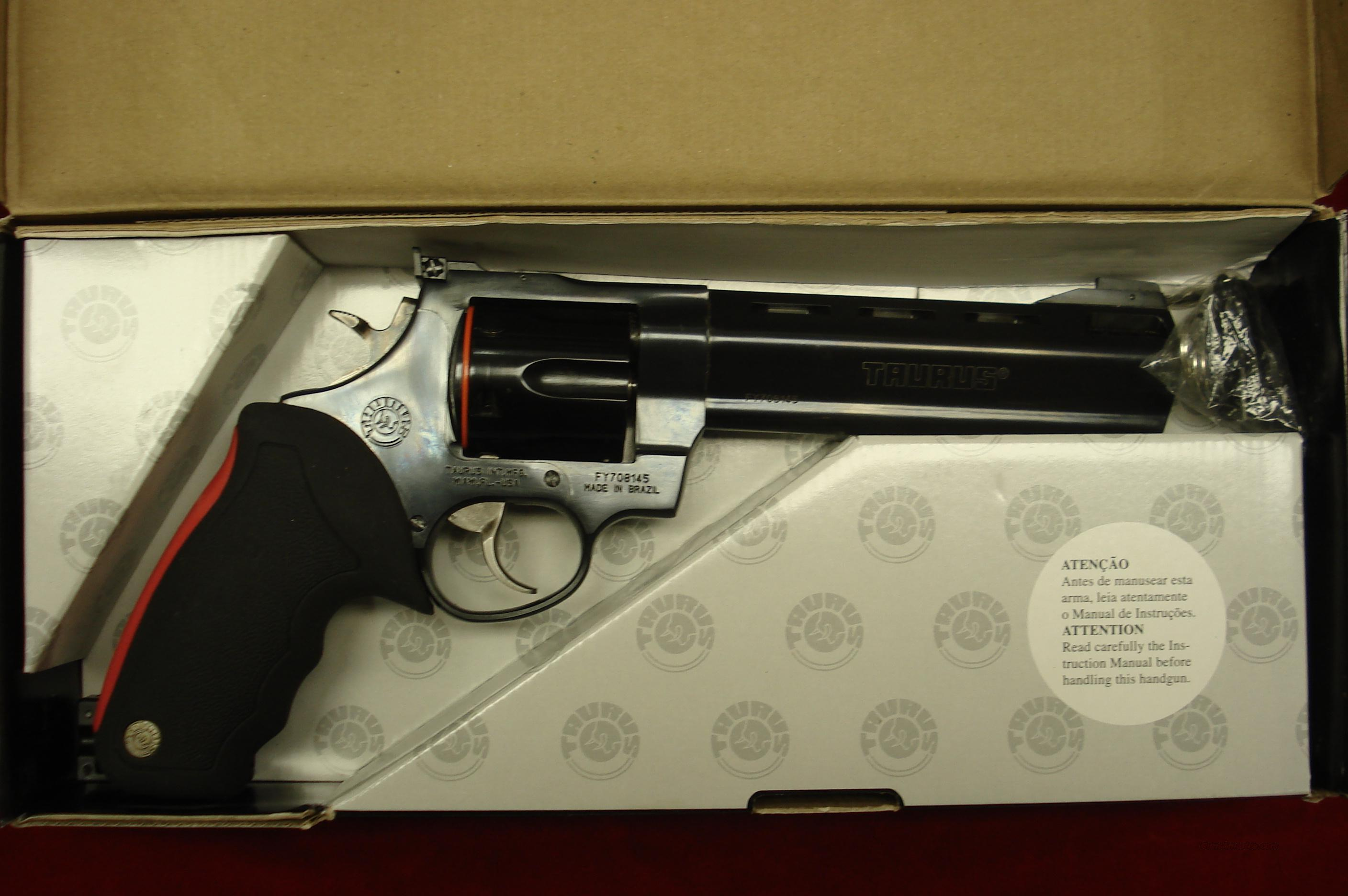 "TAURUS RAGING BULL MODEL 444CP BLUE PORTED 6.5"" 44MAG. NEW   Guns > Pistols > Taurus Pistols/Revolvers > Revolvers"