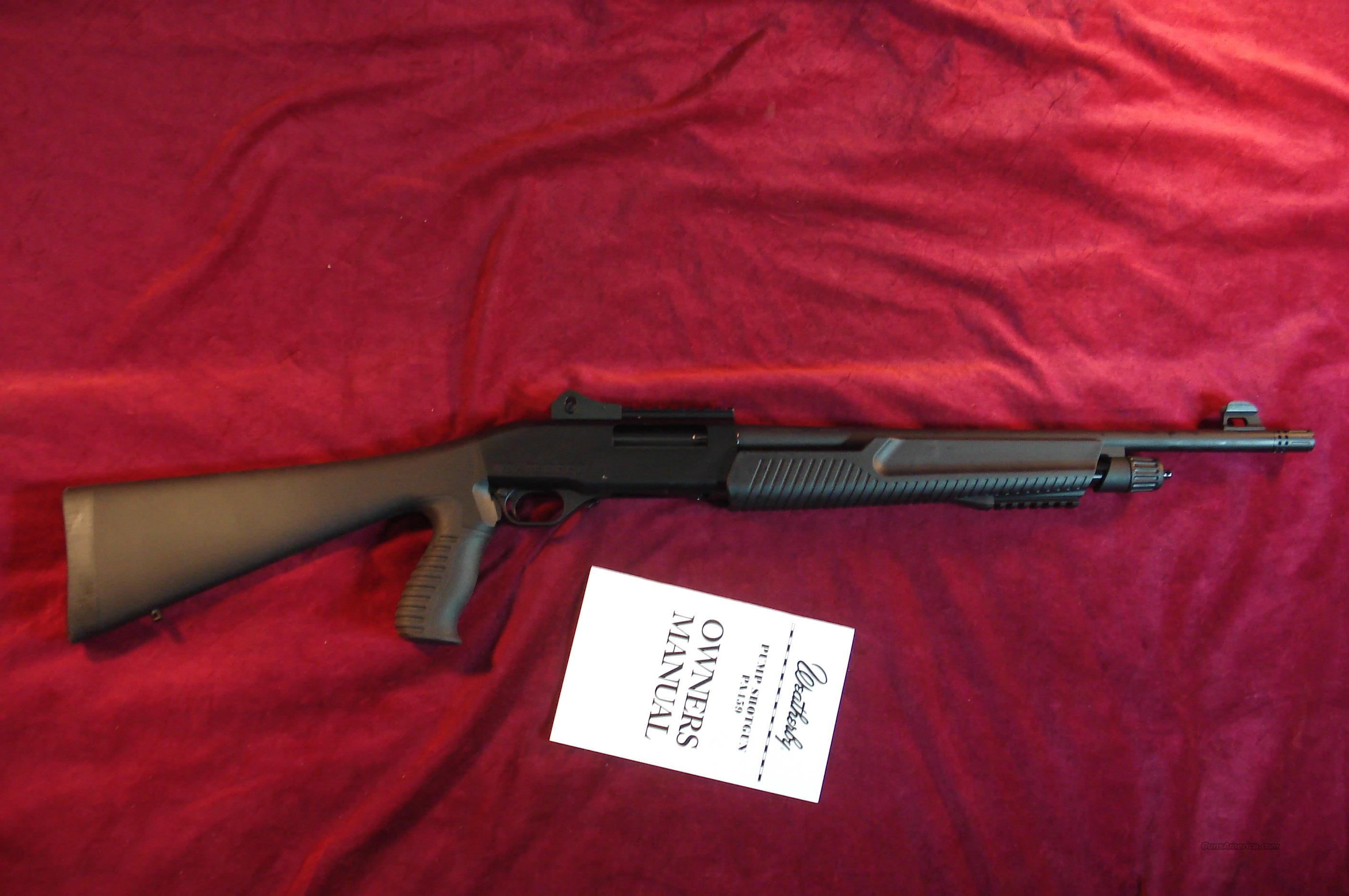 "WEATHERBY PA459TR THREAT RESPONSE 20G. 3"" PUMP WITH FACTORY GHOST RING REAR SIGHT NEW  Guns > Shotguns > Weatherby Shotguns > Hunting > Autoloader"