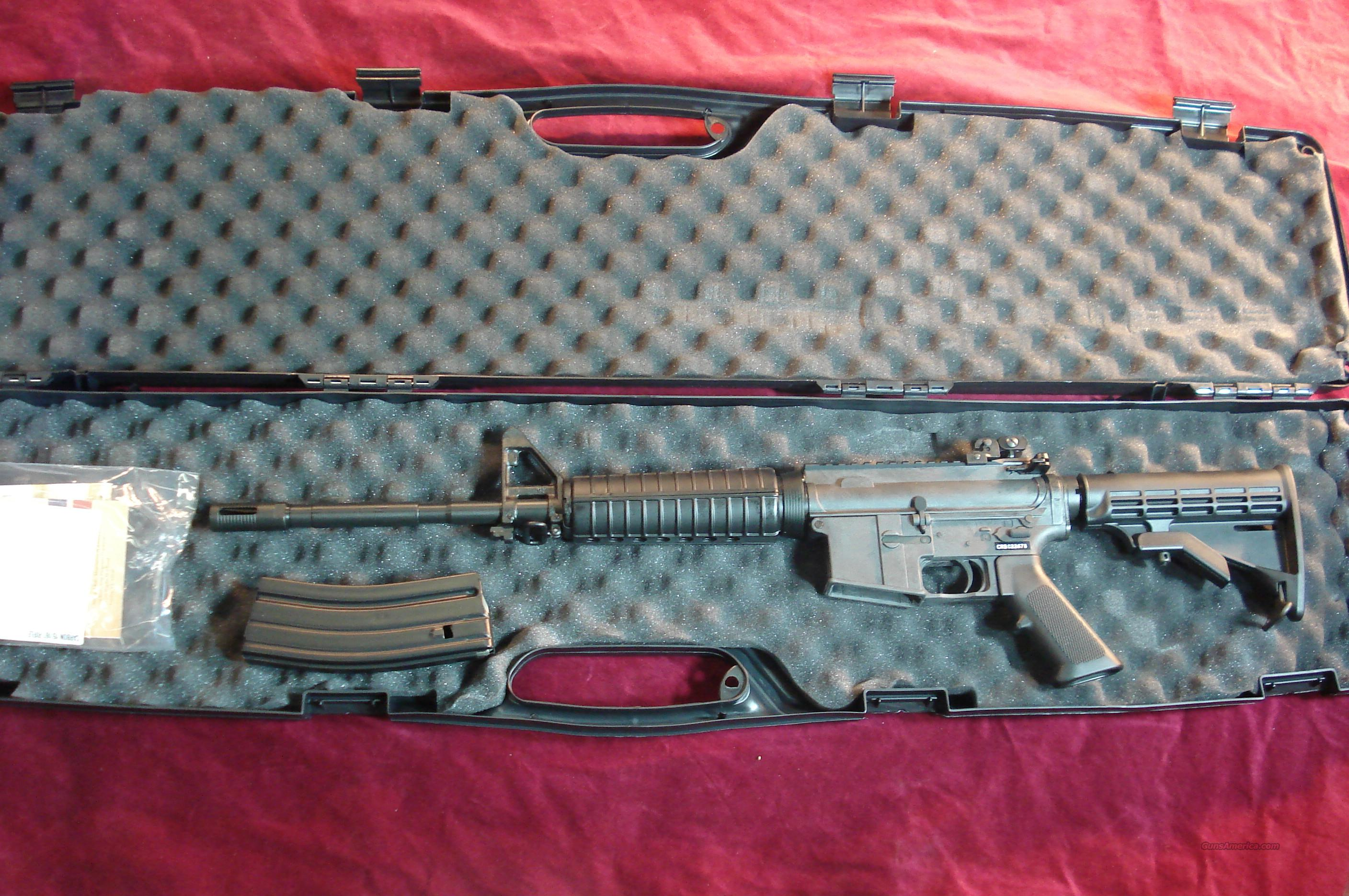 BUSHMASTER CARBON 15 5.56/223CAL. WITH W/FOLDING REAR SIGHT NEW  Guns > Rifles > Bushmaster Rifles > Complete Rifles
