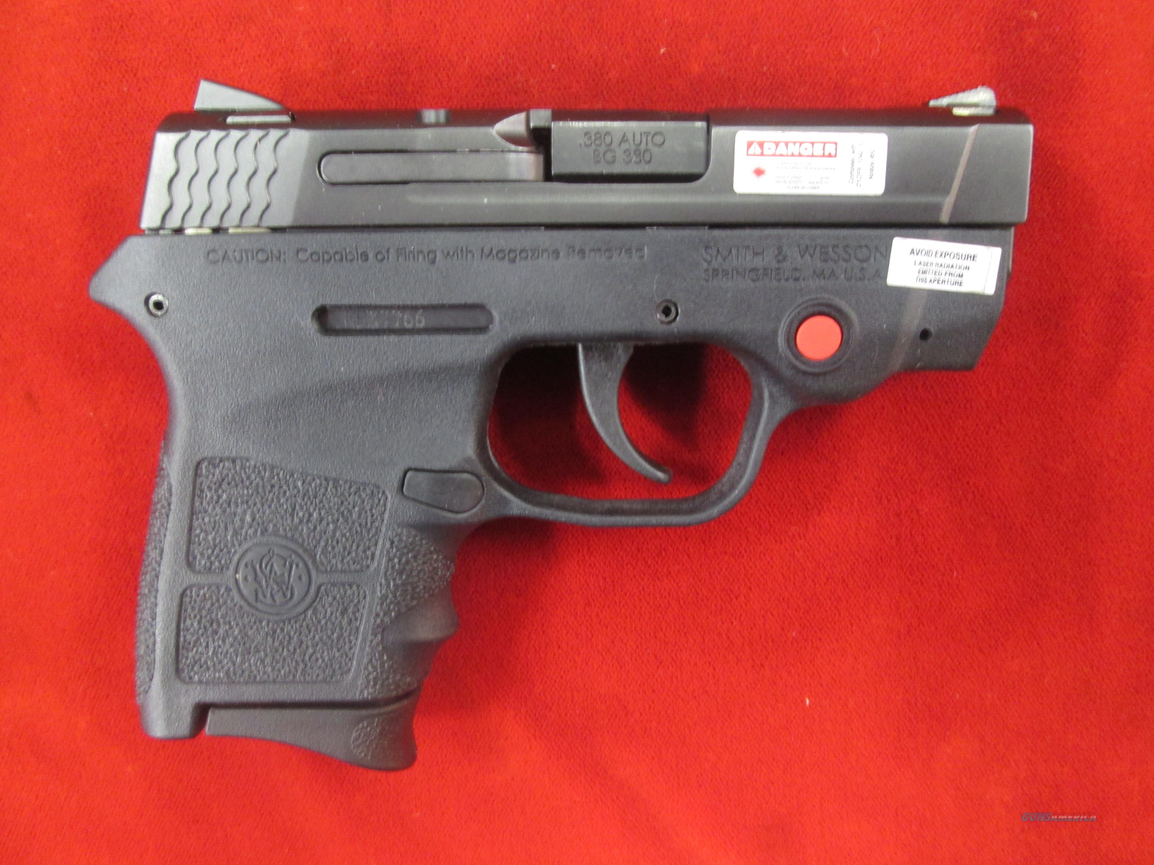 SMITH AND WESSON BODYGUARD W/ CRIMSON TRACE LASER 380CAL USED  Guns > Pistols > Smith & Wesson Pistols - Autos > Polymer Frame