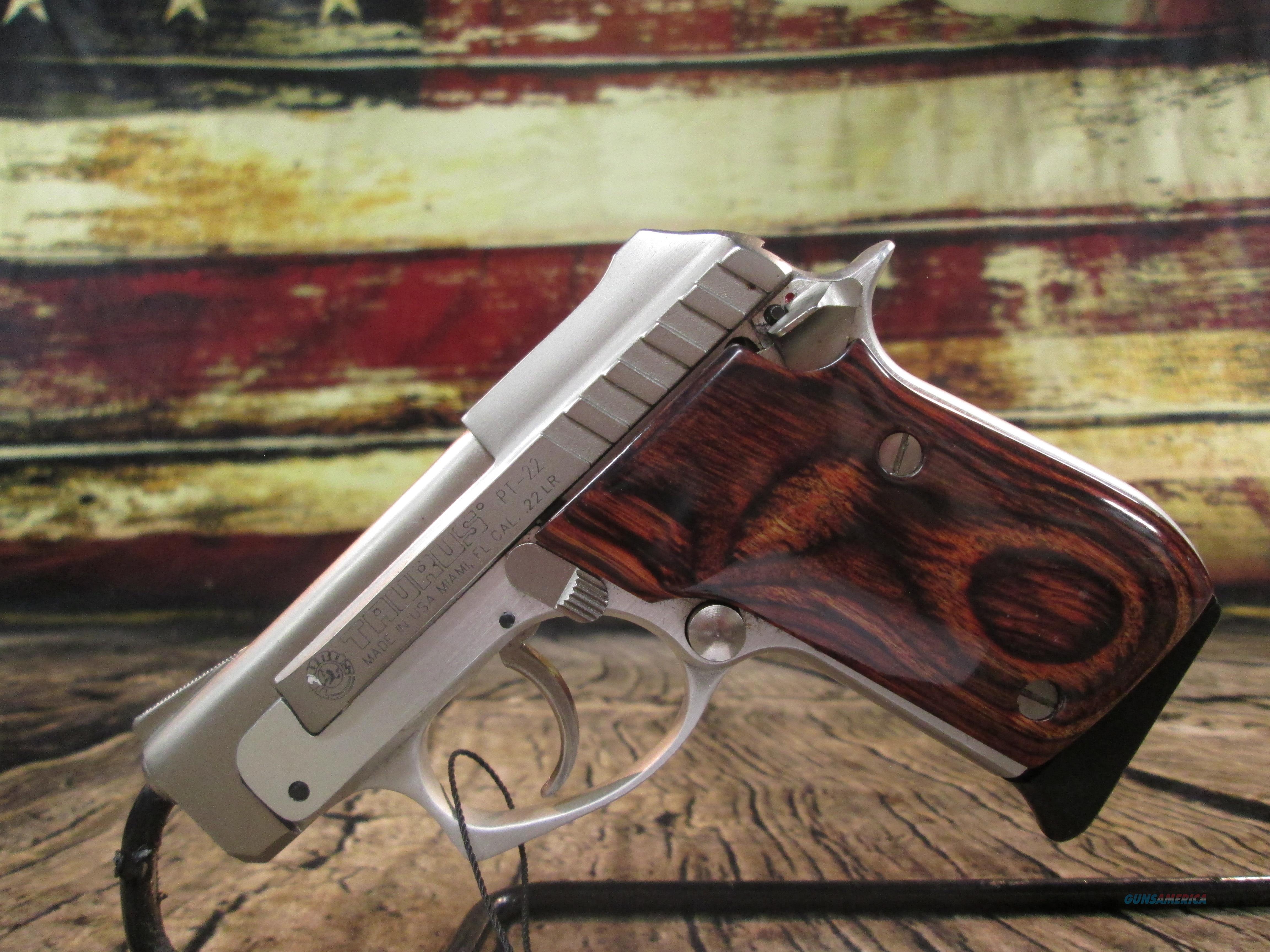 Taurus Model 22 W/ Rosewood Grips Used (61572)  Guns > Pistols > Taurus Pistols > Semi Auto Pistols > Steel Frame