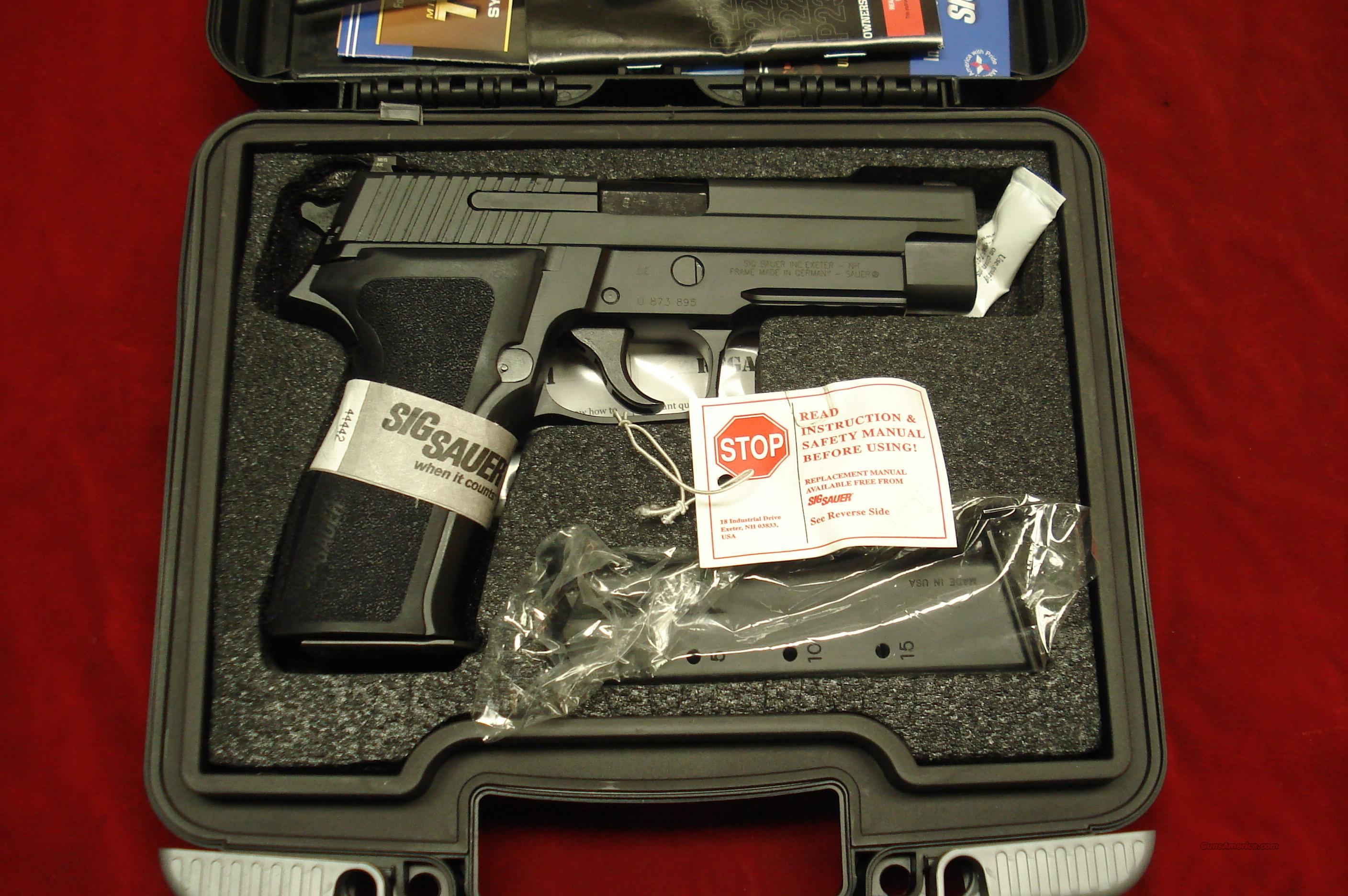SIG SAUER P226 9MM WITH NIGHT SIGHTS NEW  Guns > Pistols > Sig - Sauer/Sigarms Pistols > P226