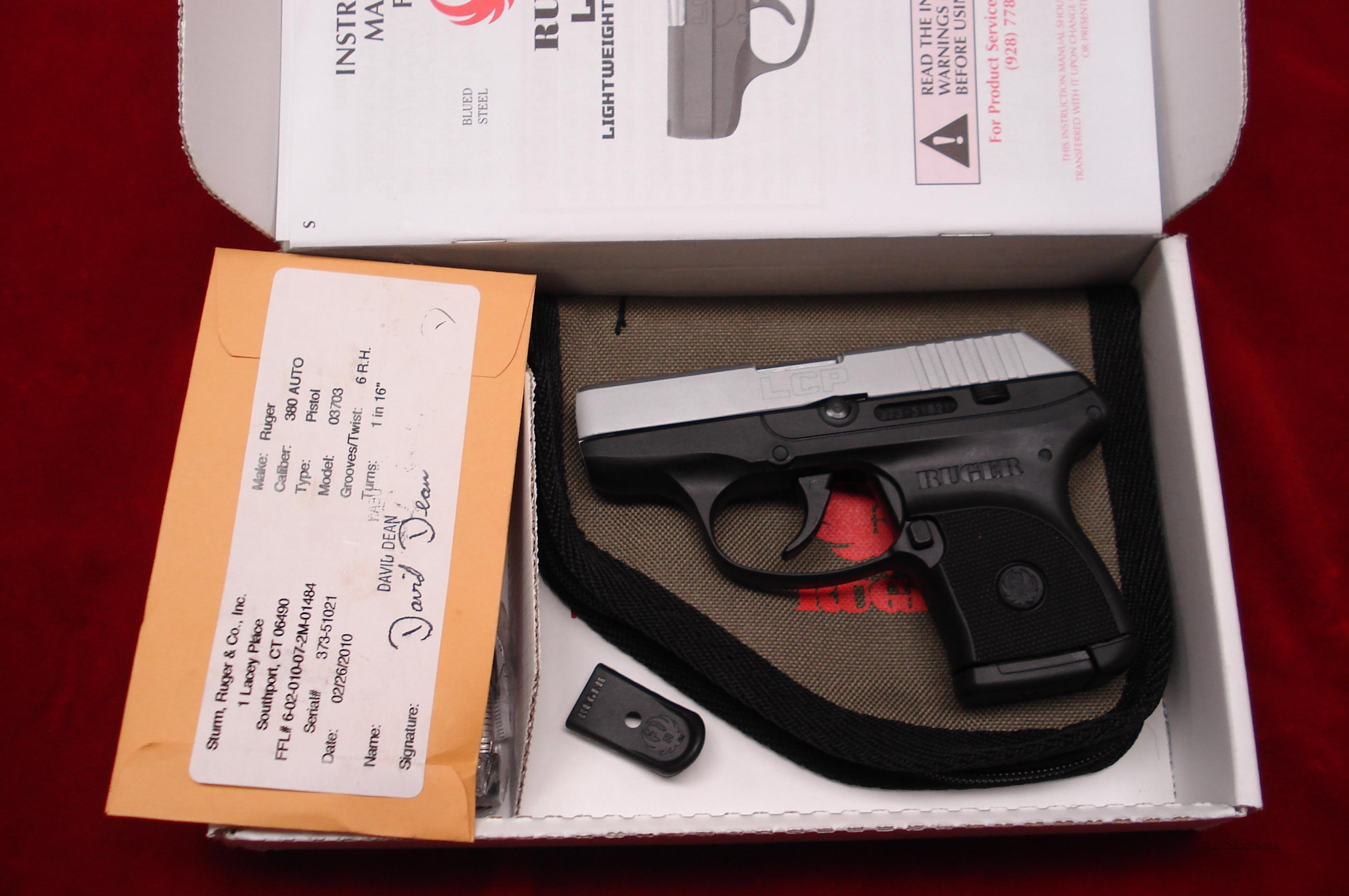 RUGER LCP HARD CHROME **NEW RELEASE** (Lightweight Compact Pistol) 380CAL. NEW  Guns > Pistols > Ruger Semi-Auto Pistols > LCP
